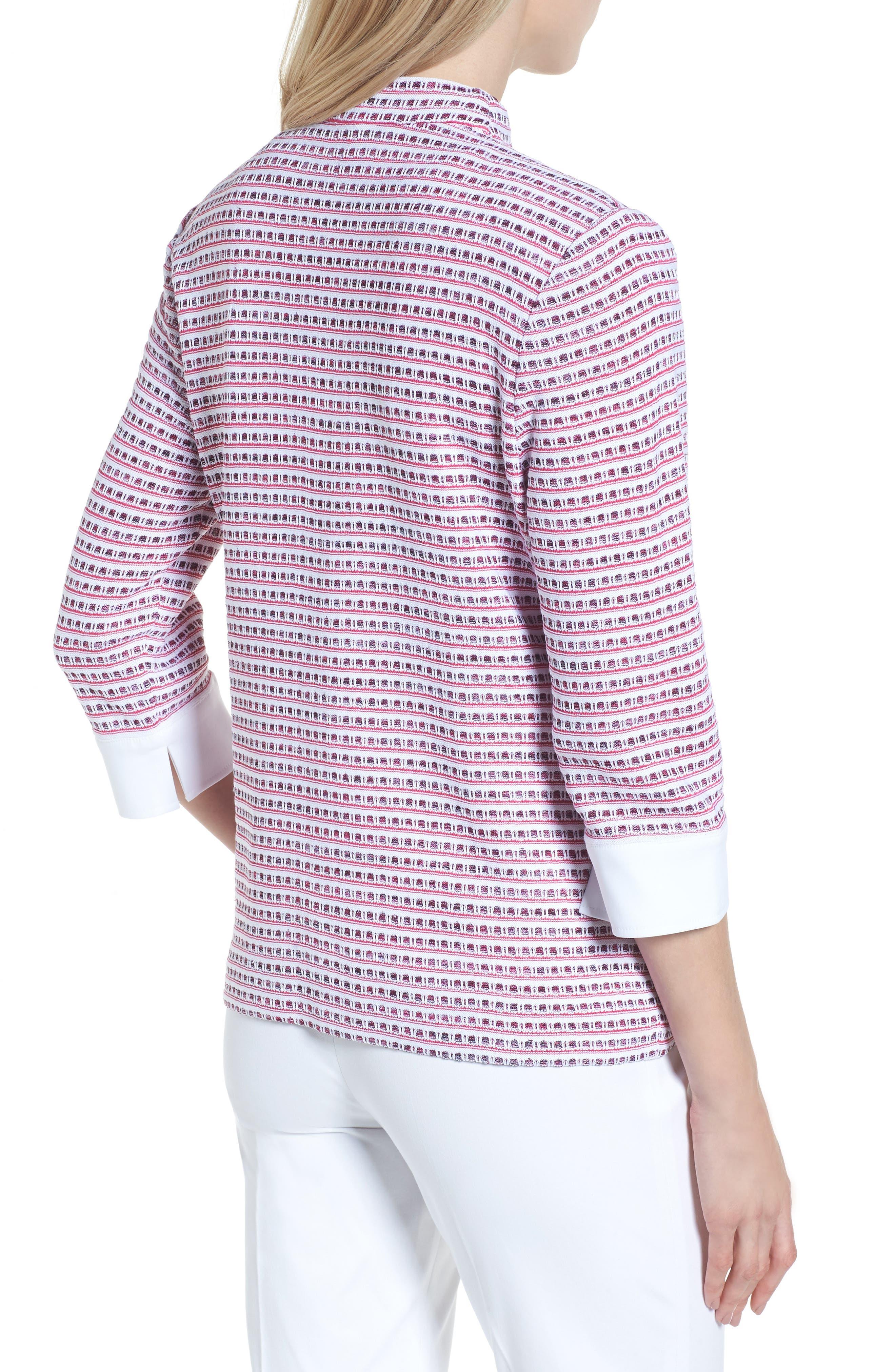 Tweed Jacket,                             Alternate thumbnail 2, color,                             White/ Black/ Dahlia