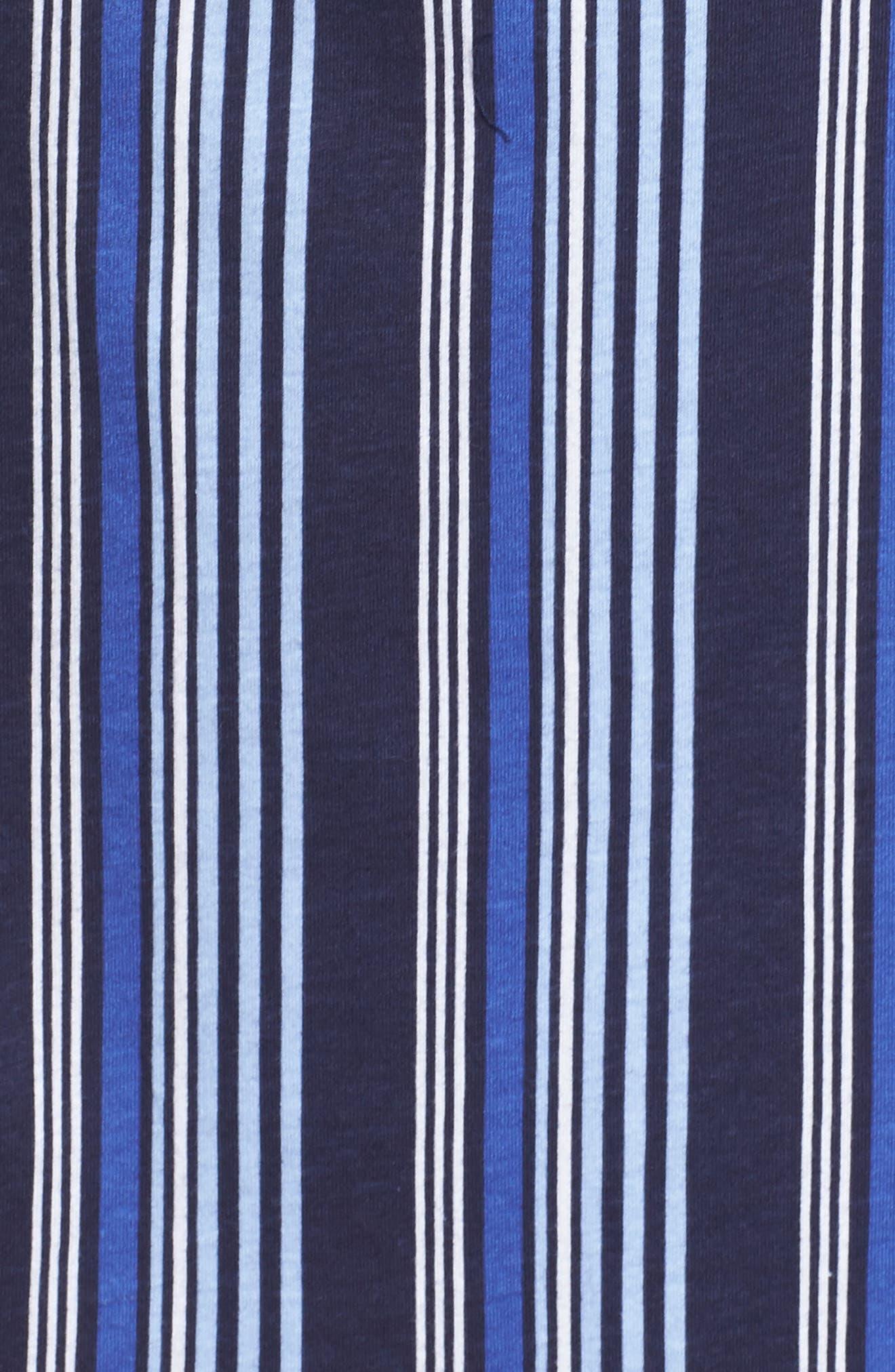 Stripe Night Shirt,                             Alternate thumbnail 6, color,                             Blue Stripe