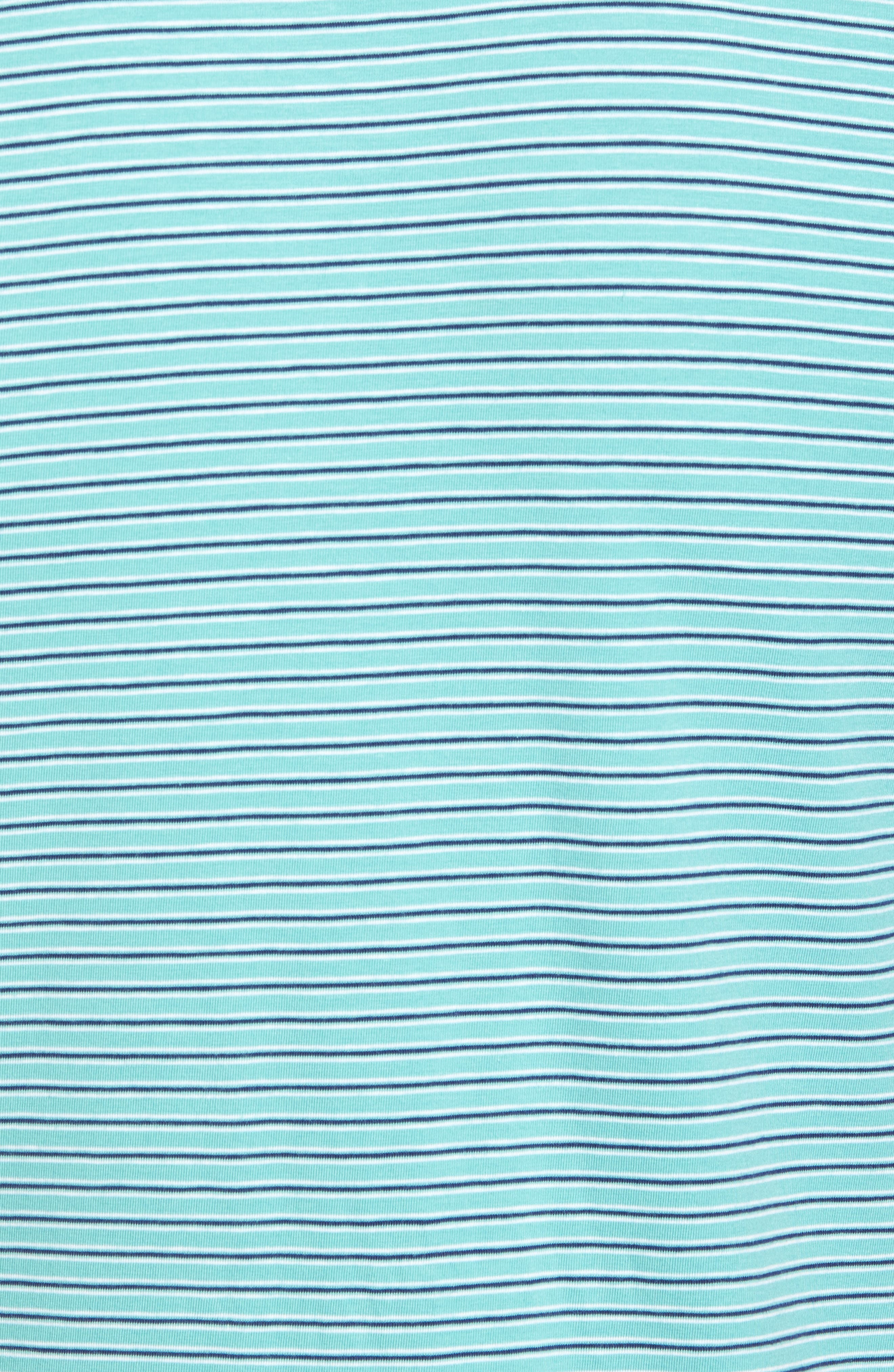 Crest Stripe Polo,                             Alternate thumbnail 5, color,                             Wintergreen