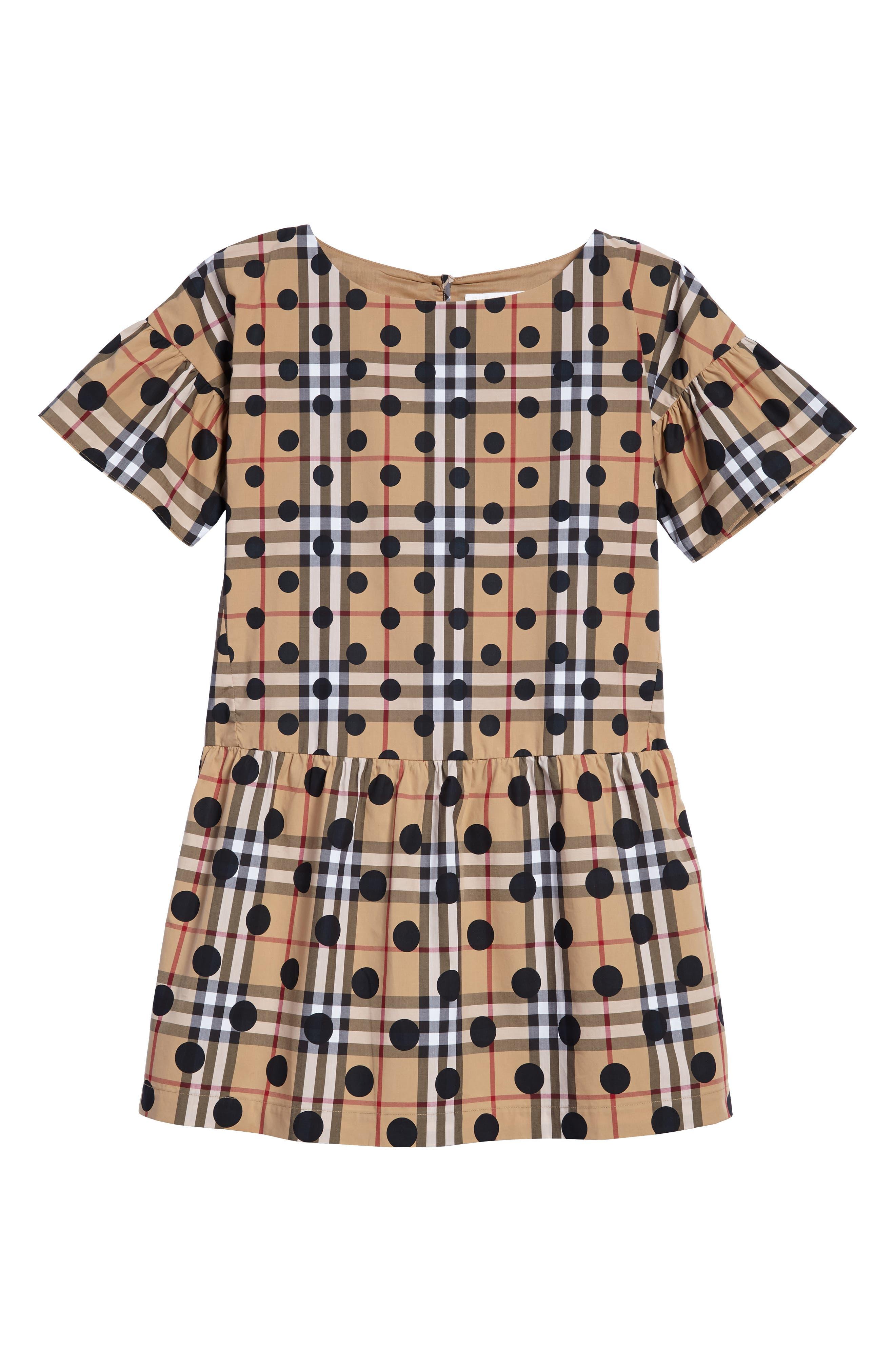 Main Image - Burberry Anabella Drop Waist Dress (Little Girls & Big Girls)
