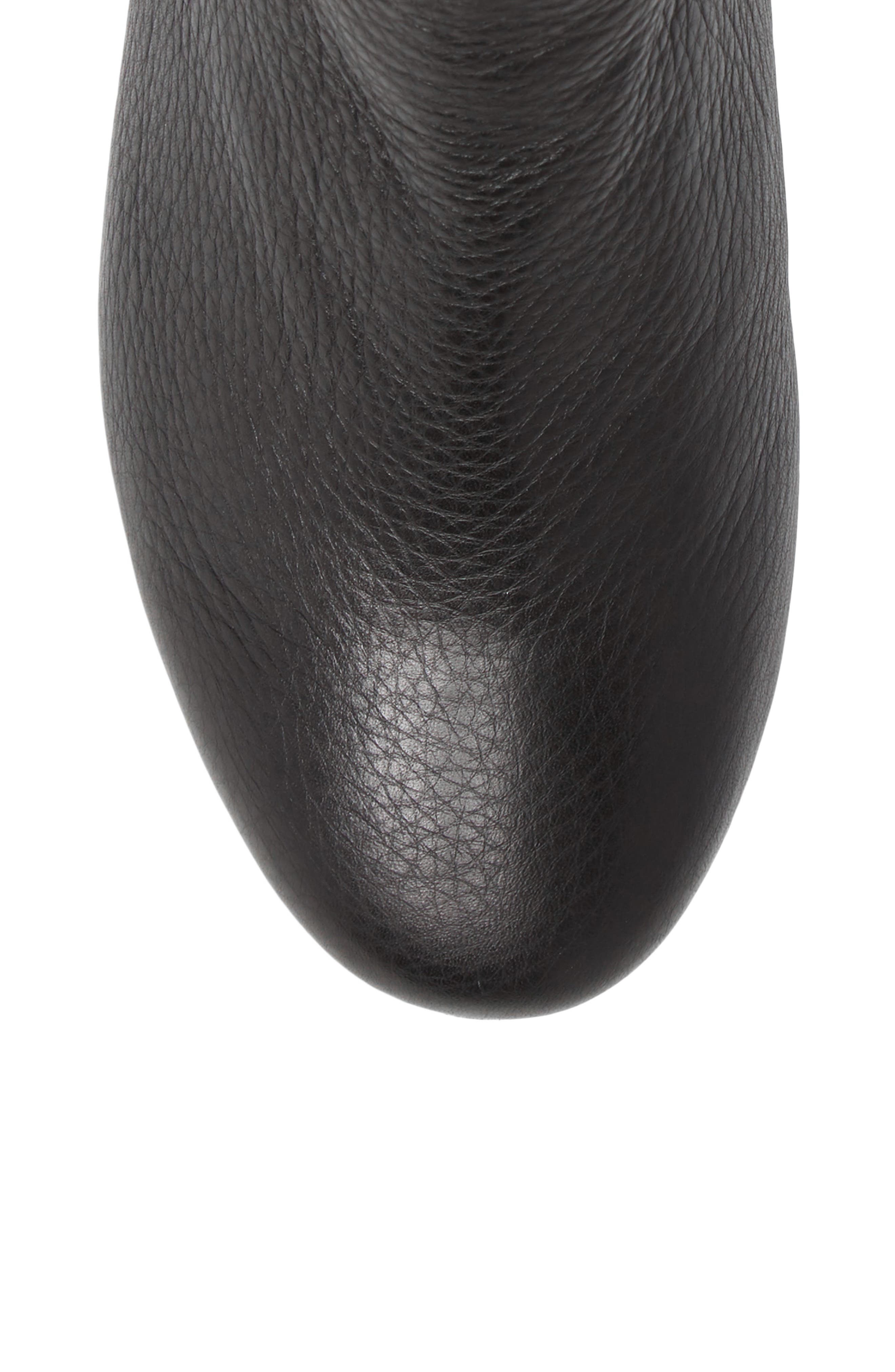 Penelope Chelsea Boot,                             Alternate thumbnail 5, color,                             Black Leather