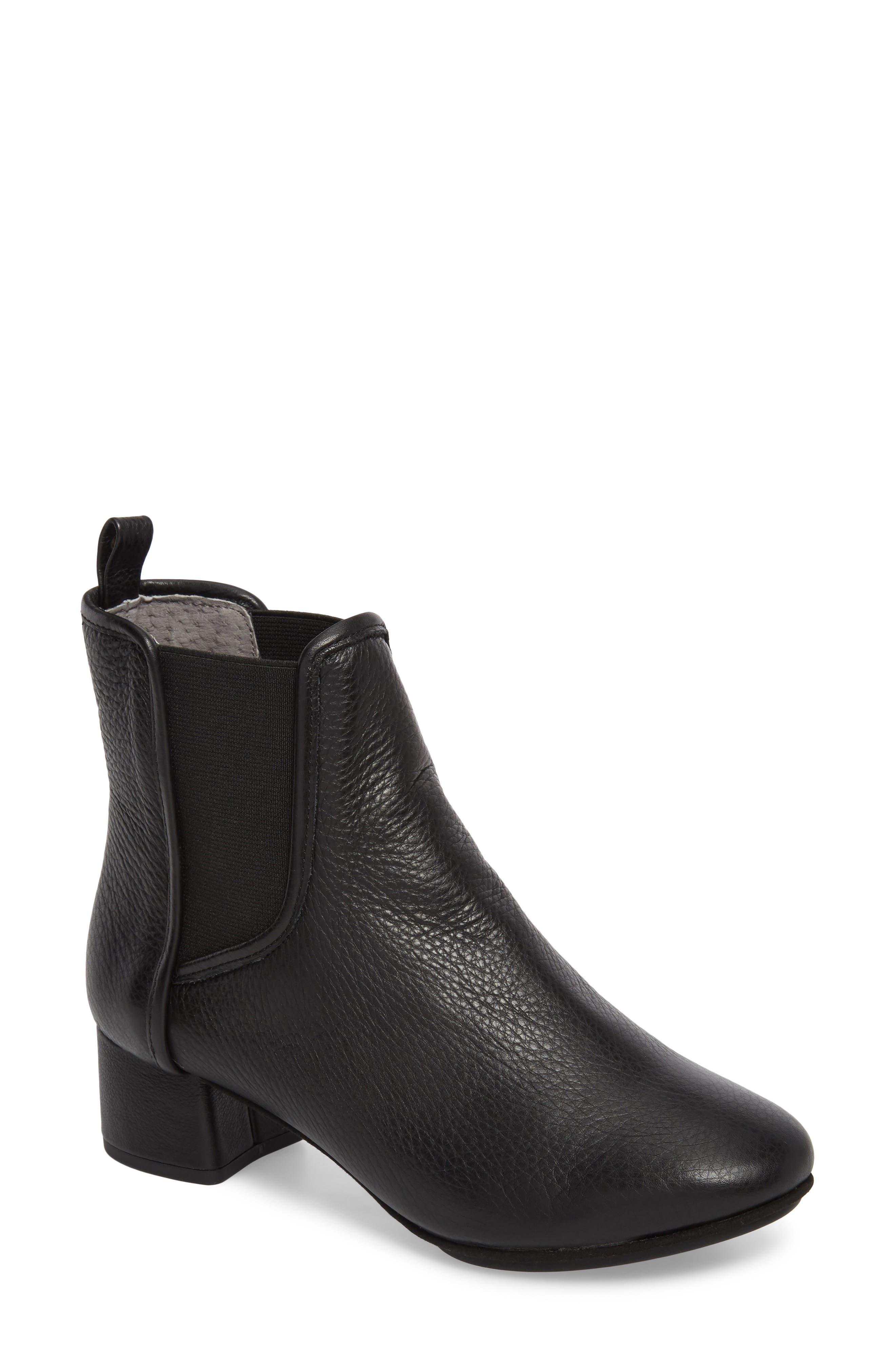 Penelope Chelsea Boot,                             Main thumbnail 1, color,                             Black Leather