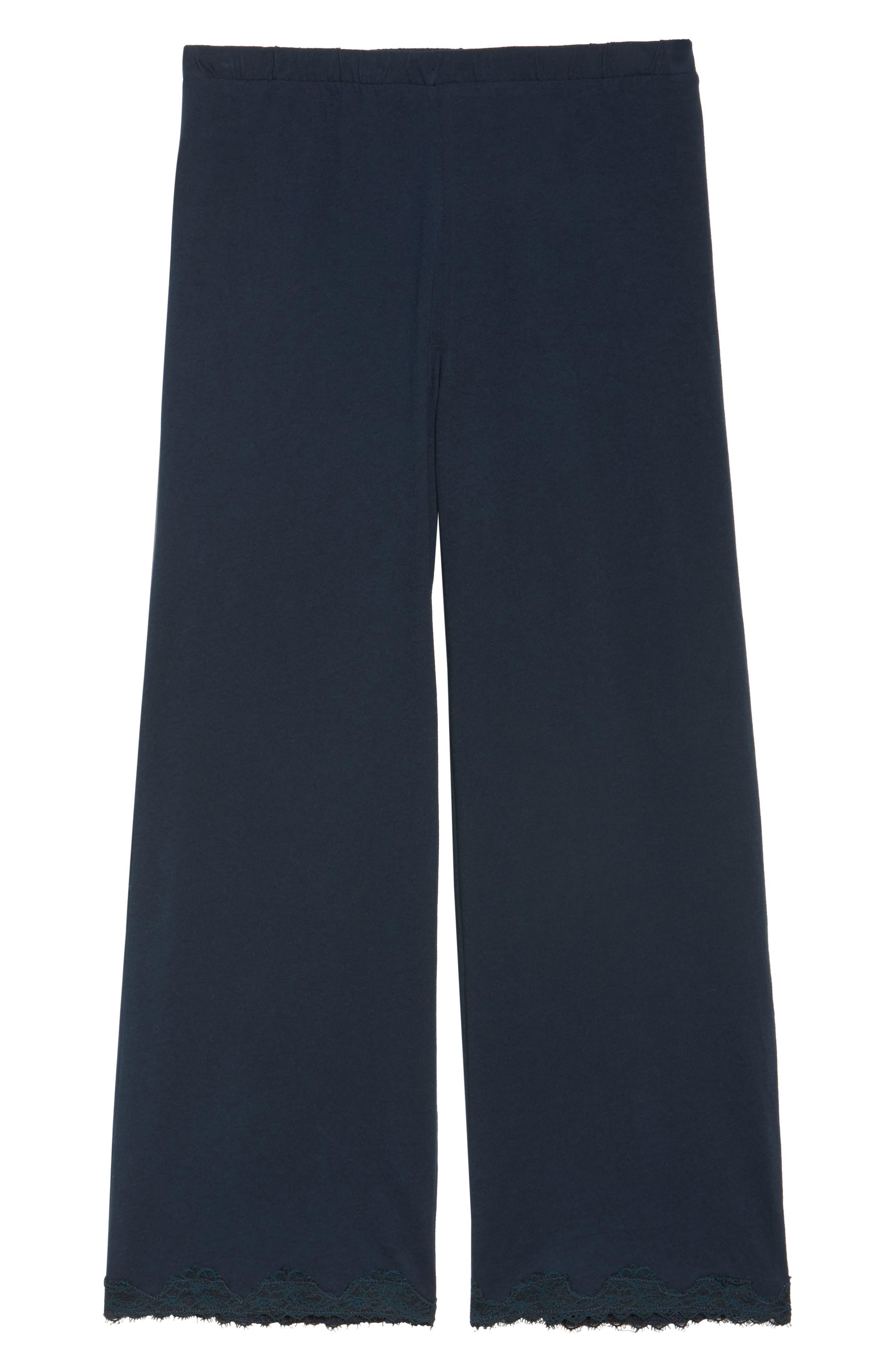 Alternate Image 4  - skin Que Crop Organic Cotton Lounge Pants