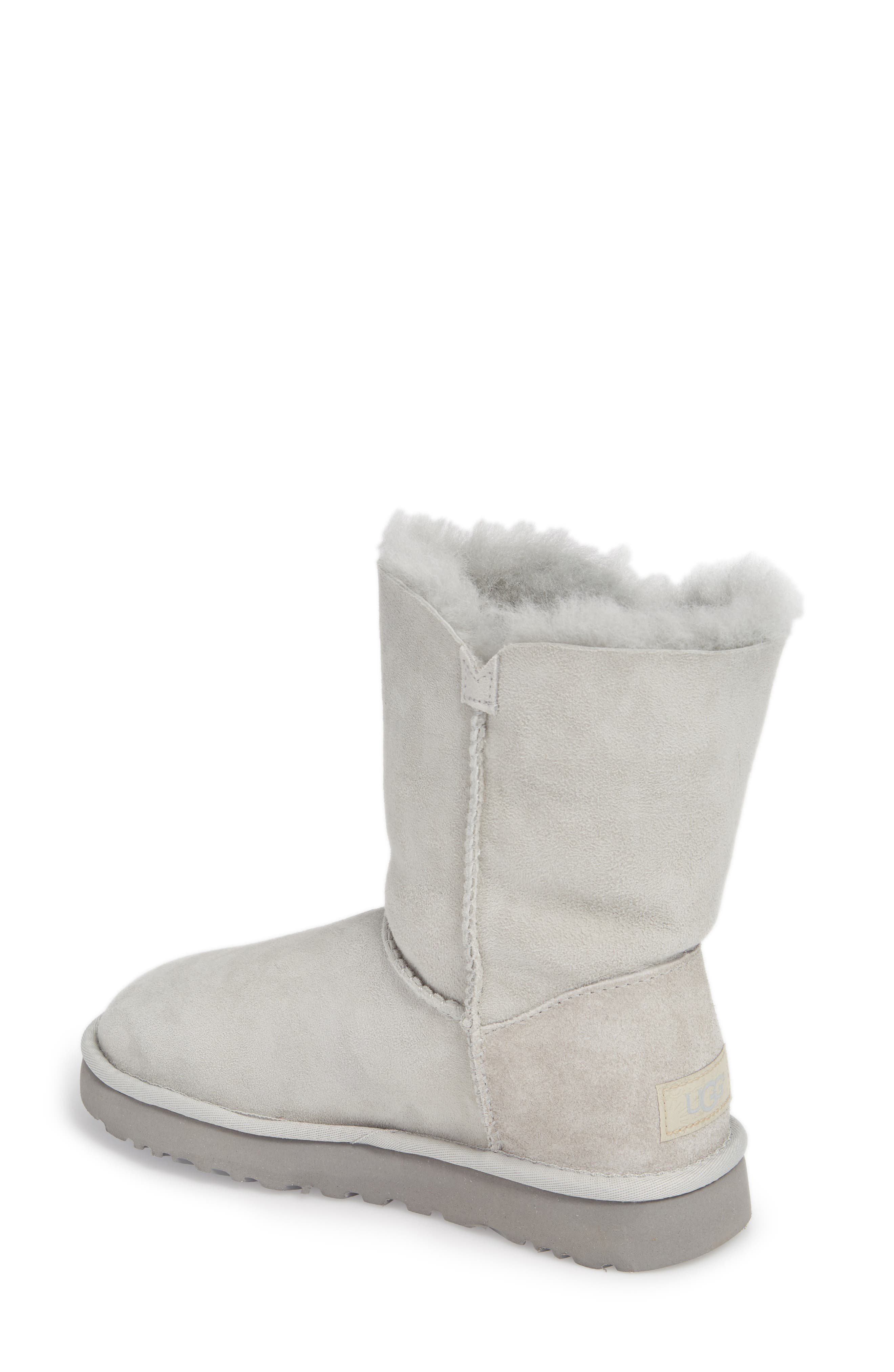 Bailey Button Poppy Genuine Shearling Boot,                             Alternate thumbnail 2, color,                             Grey Violet