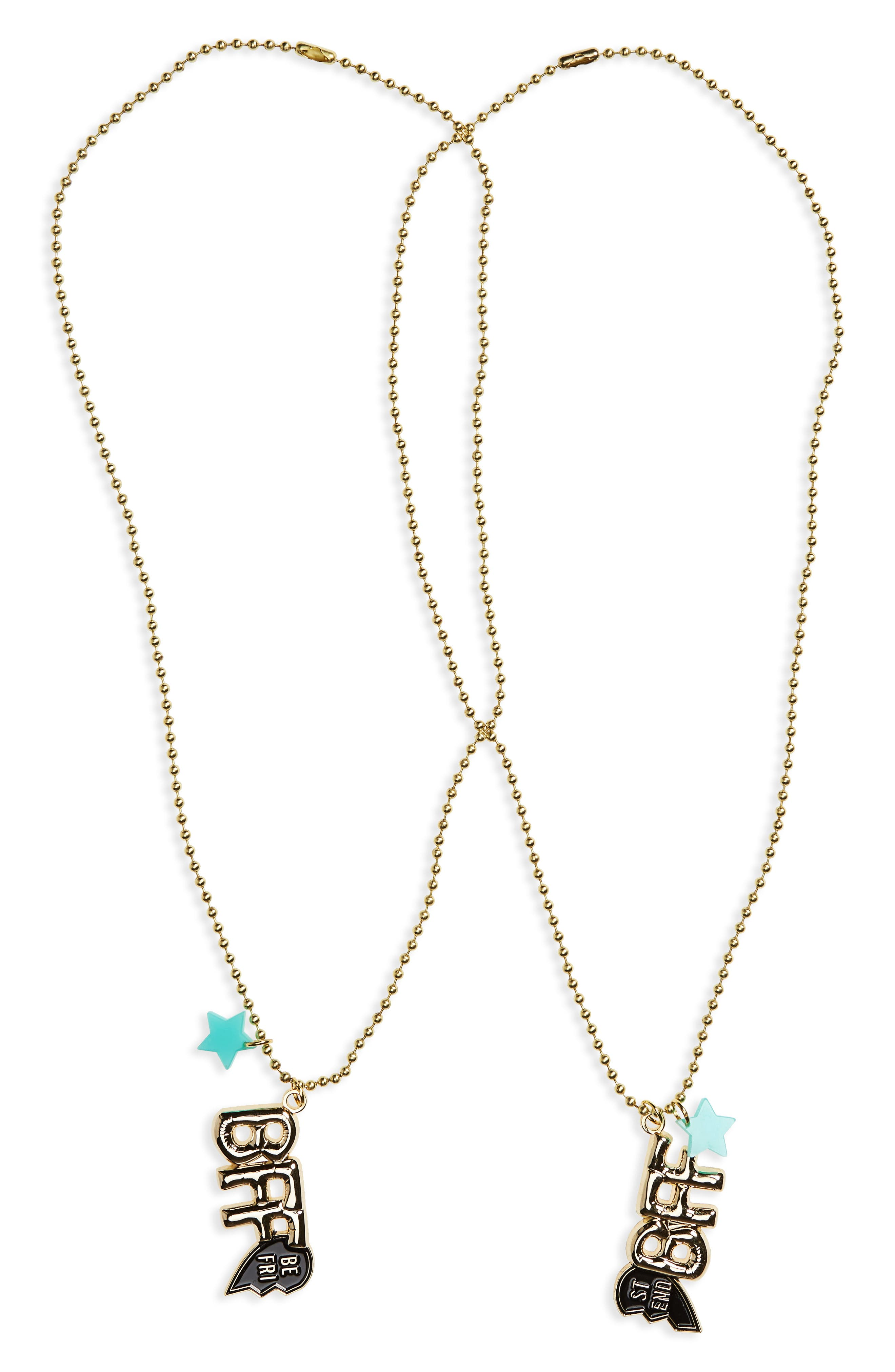 Alternate Image 1 Selected - LIttle Lux Set of 2 BFF Pendant Necklaces (Girls)