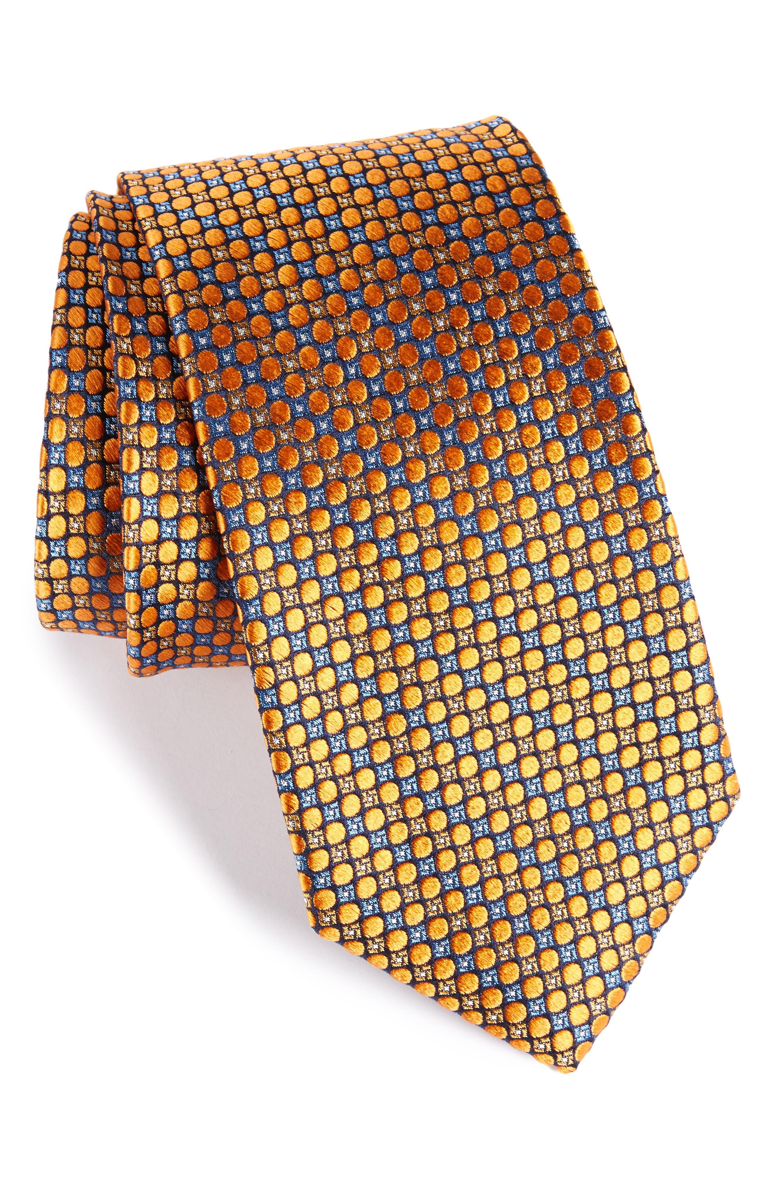 Nordstrom Men's Shop Carter Dot Silk Tie (X-Long)