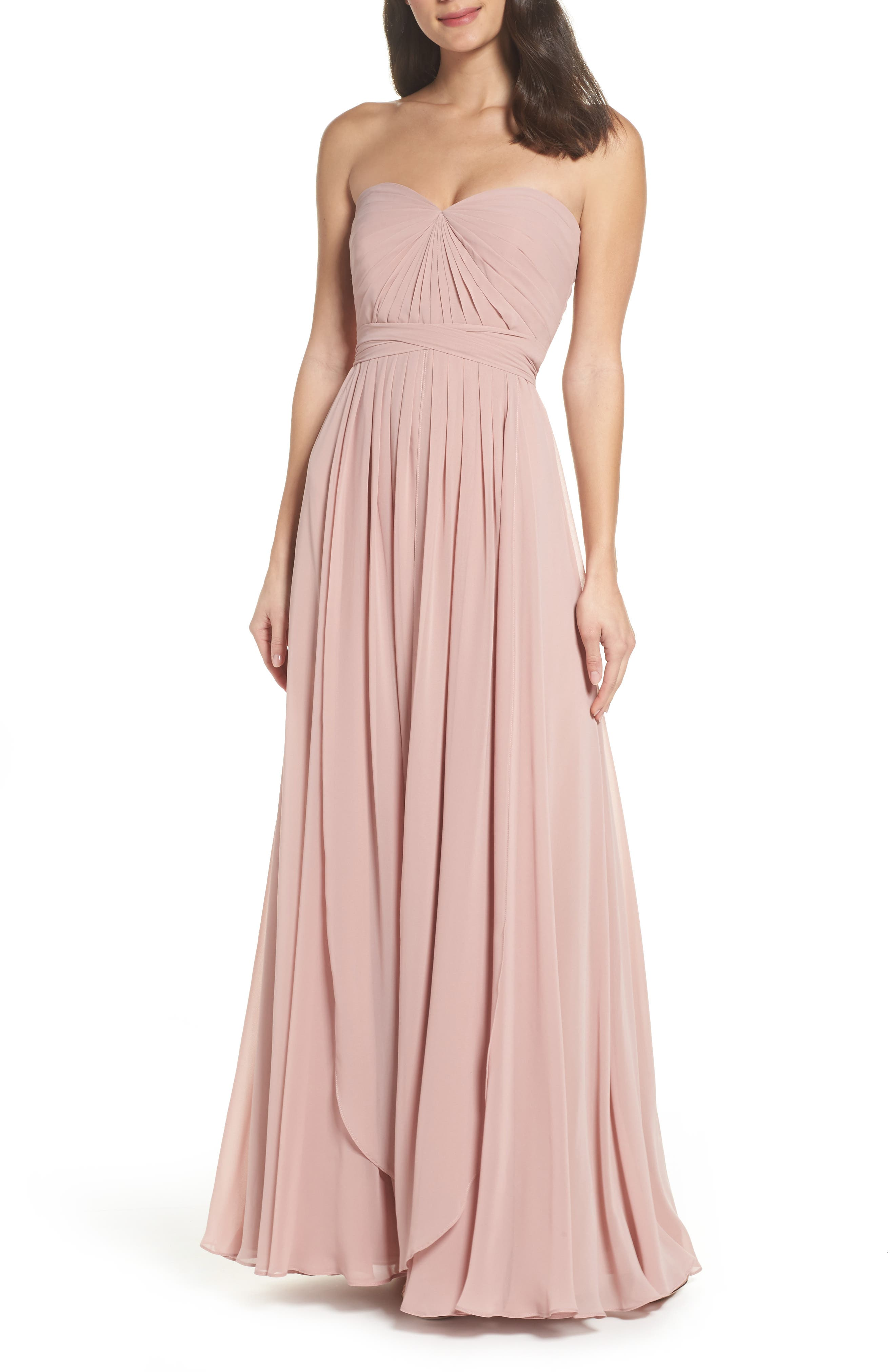 4b1d9beba0cc Jenny Yoo Mira Convertible Strapless Chiffon Gown In Whipped Apricot ...