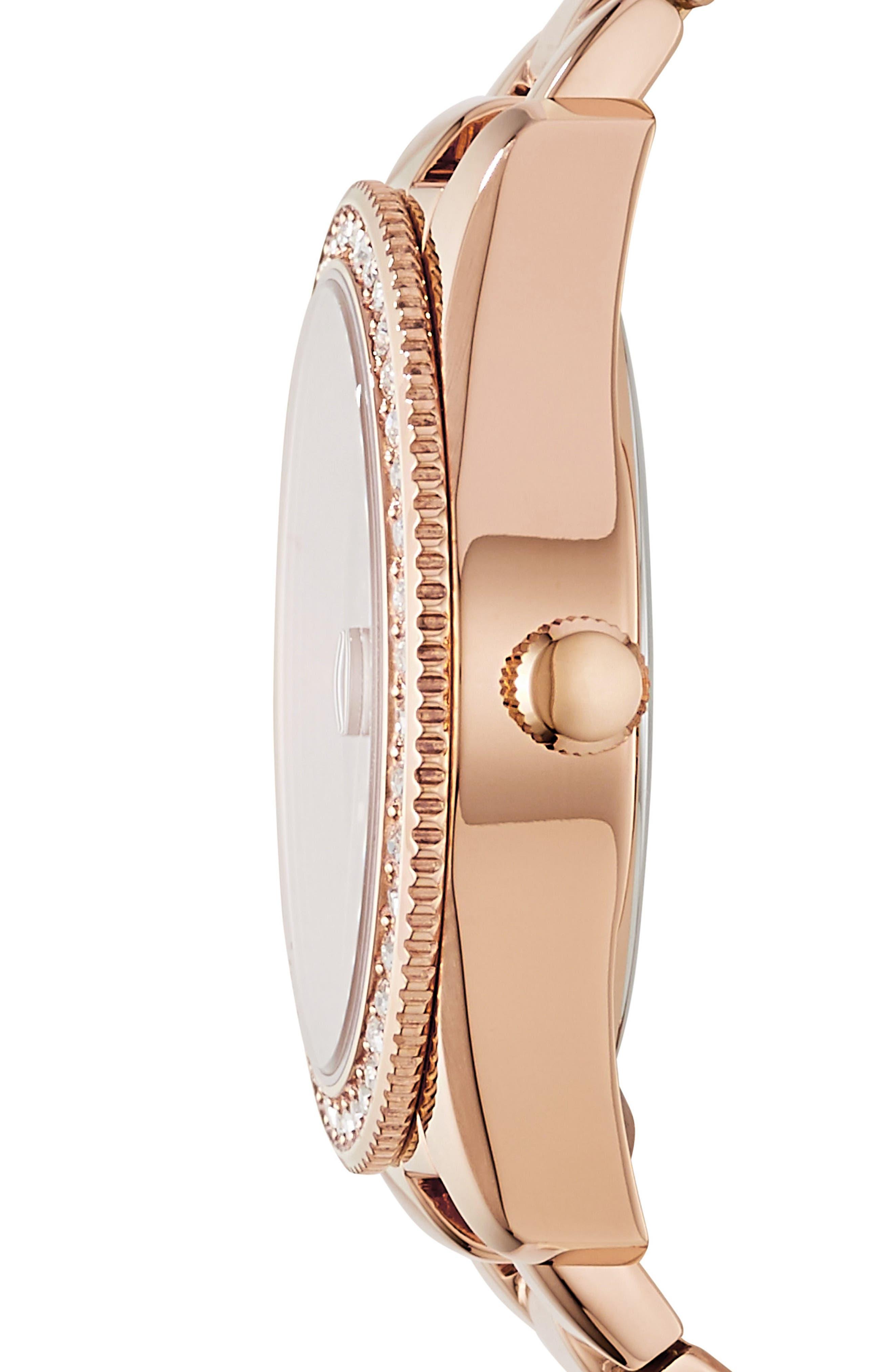 Scarlette Crystal Bracelet Watch, 32mm,                             Alternate thumbnail 2, color,                             Rose Gold