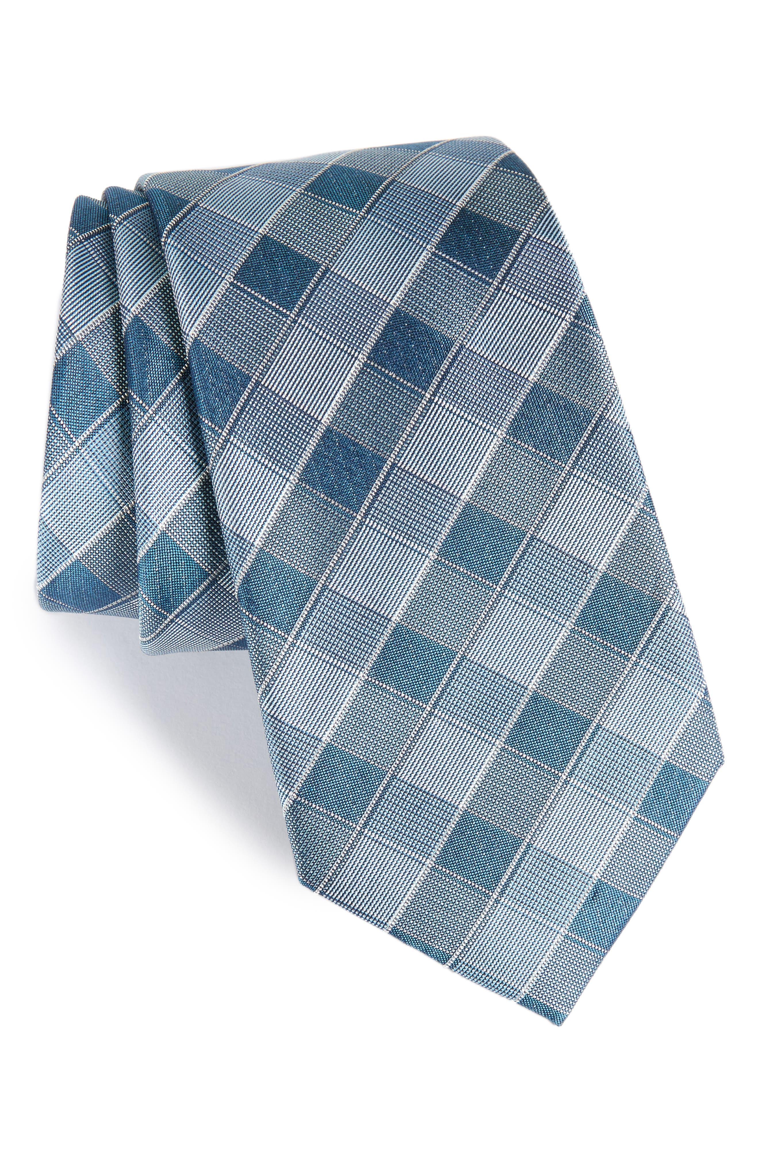 Calibrate Cobbin Plaid Silk Tie