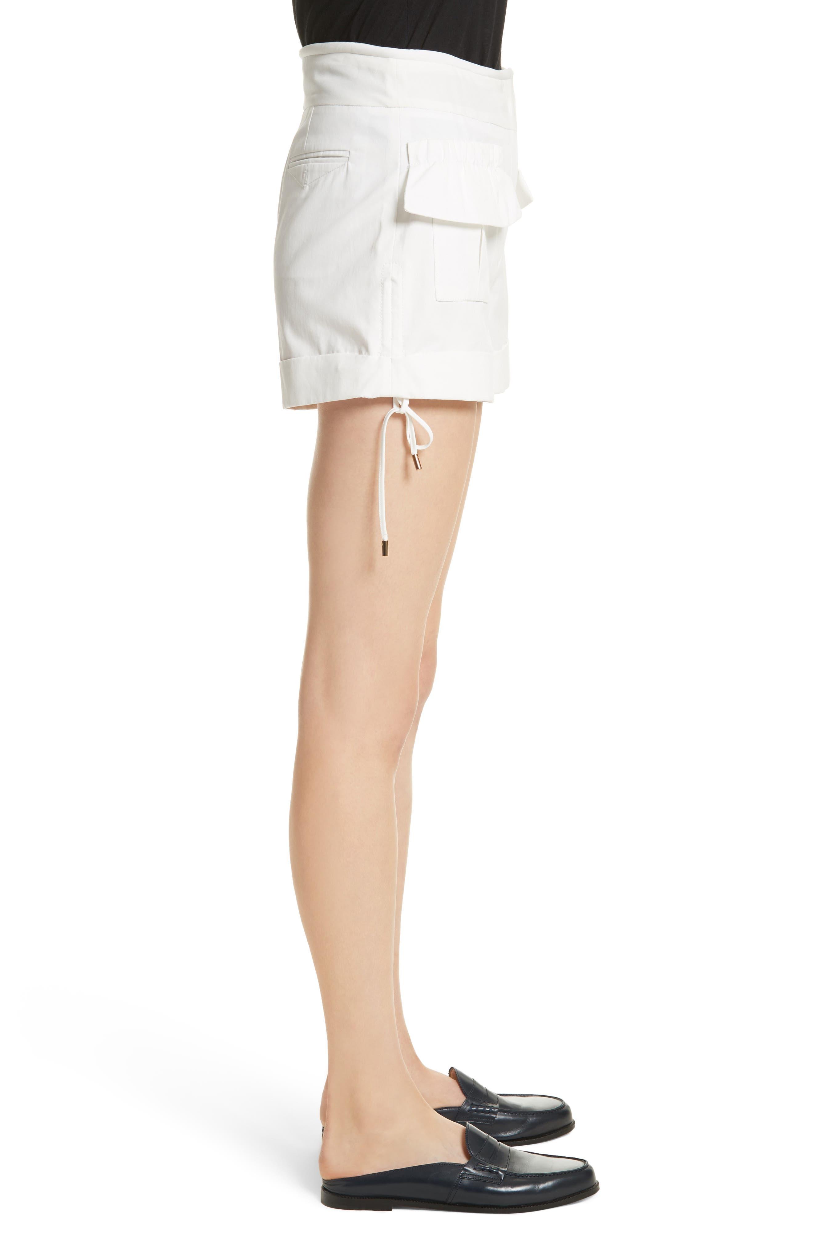 High Waist Shorts,                             Alternate thumbnail 3, color,                             Blanc Antique