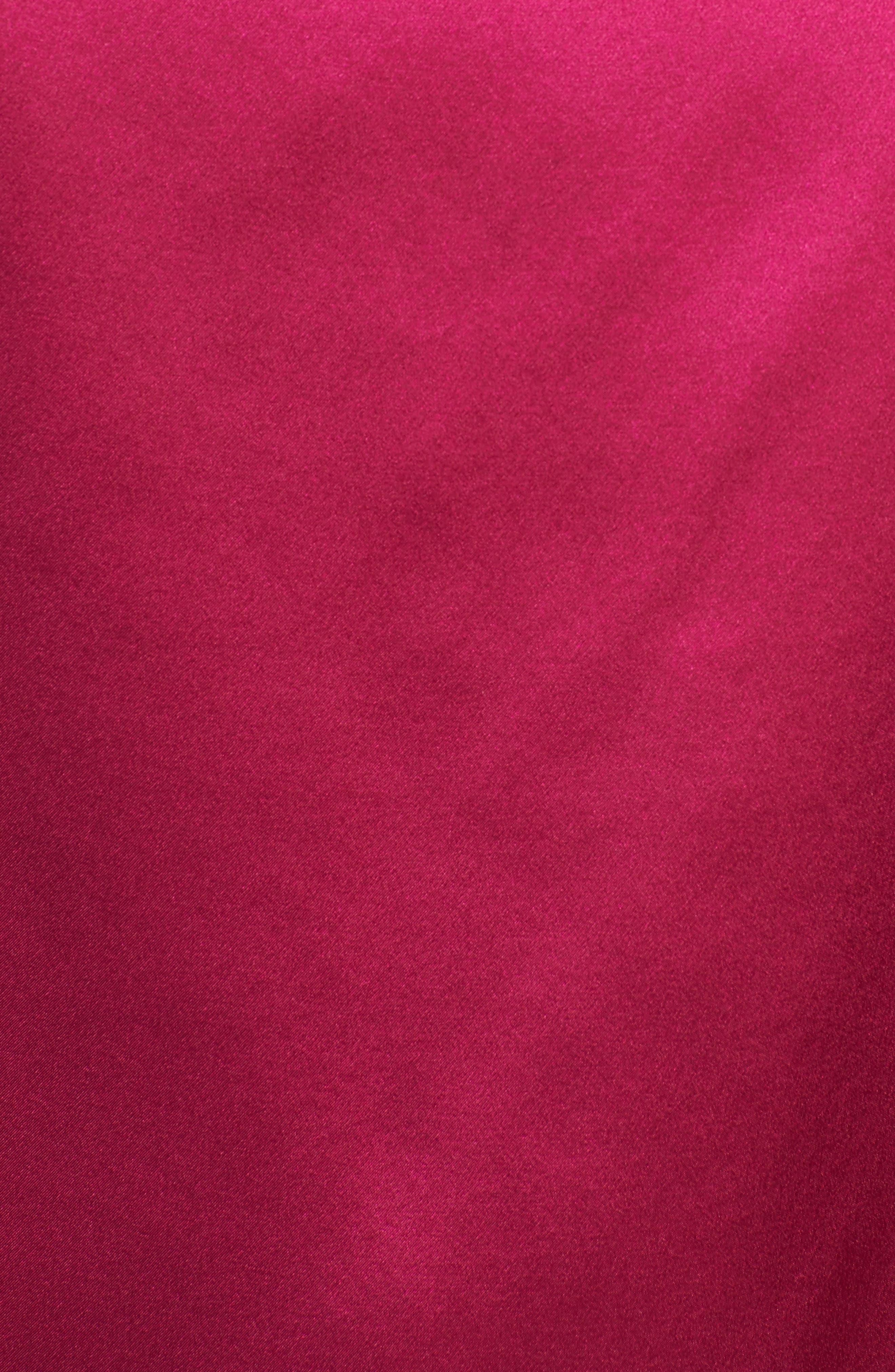Amelia Asymmetrical Silk Blouse,                             Alternate thumbnail 5, color,                             Beetroot