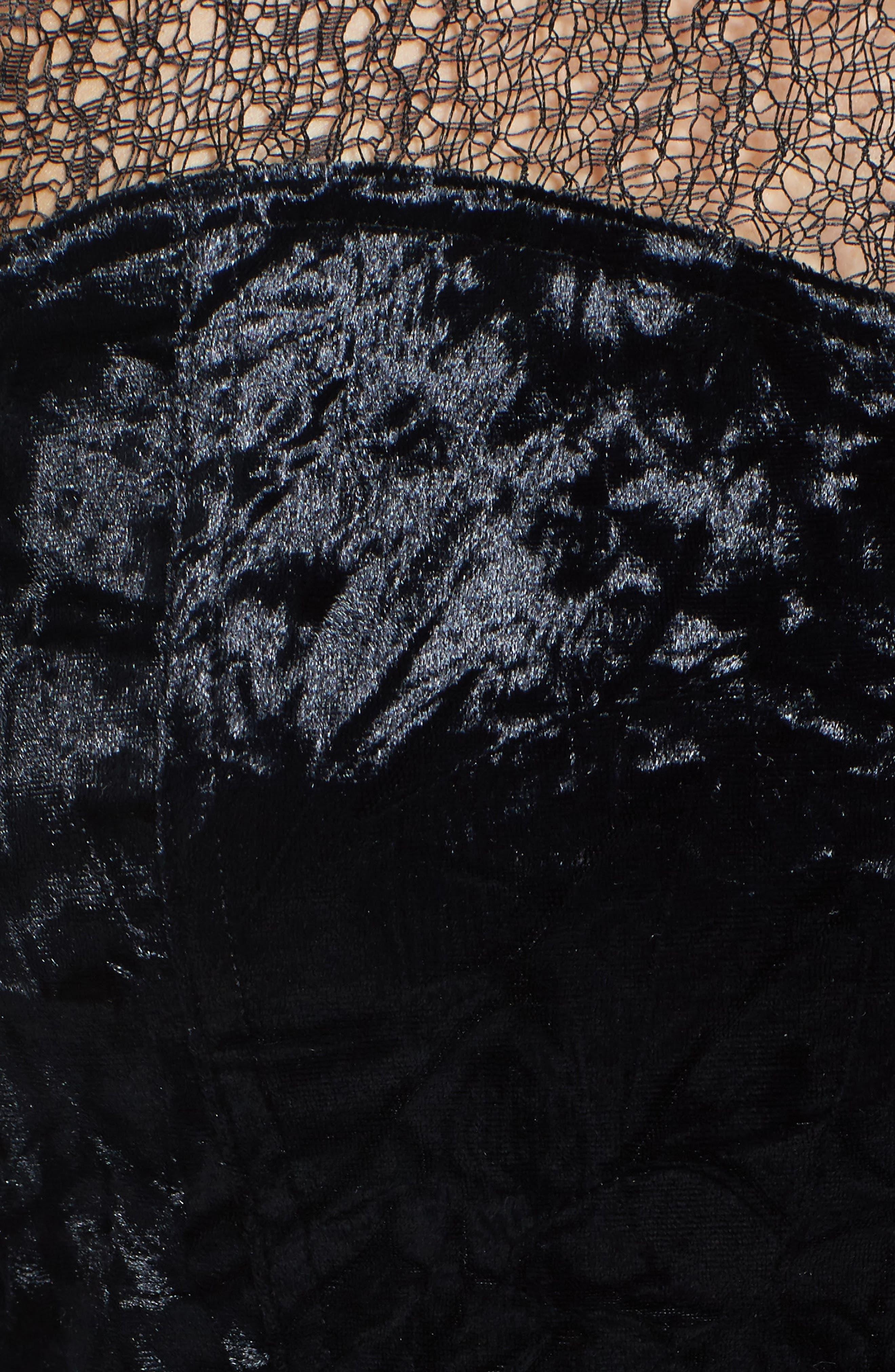 Alternate Image 5  - Trouvé Lace & Velvet Top