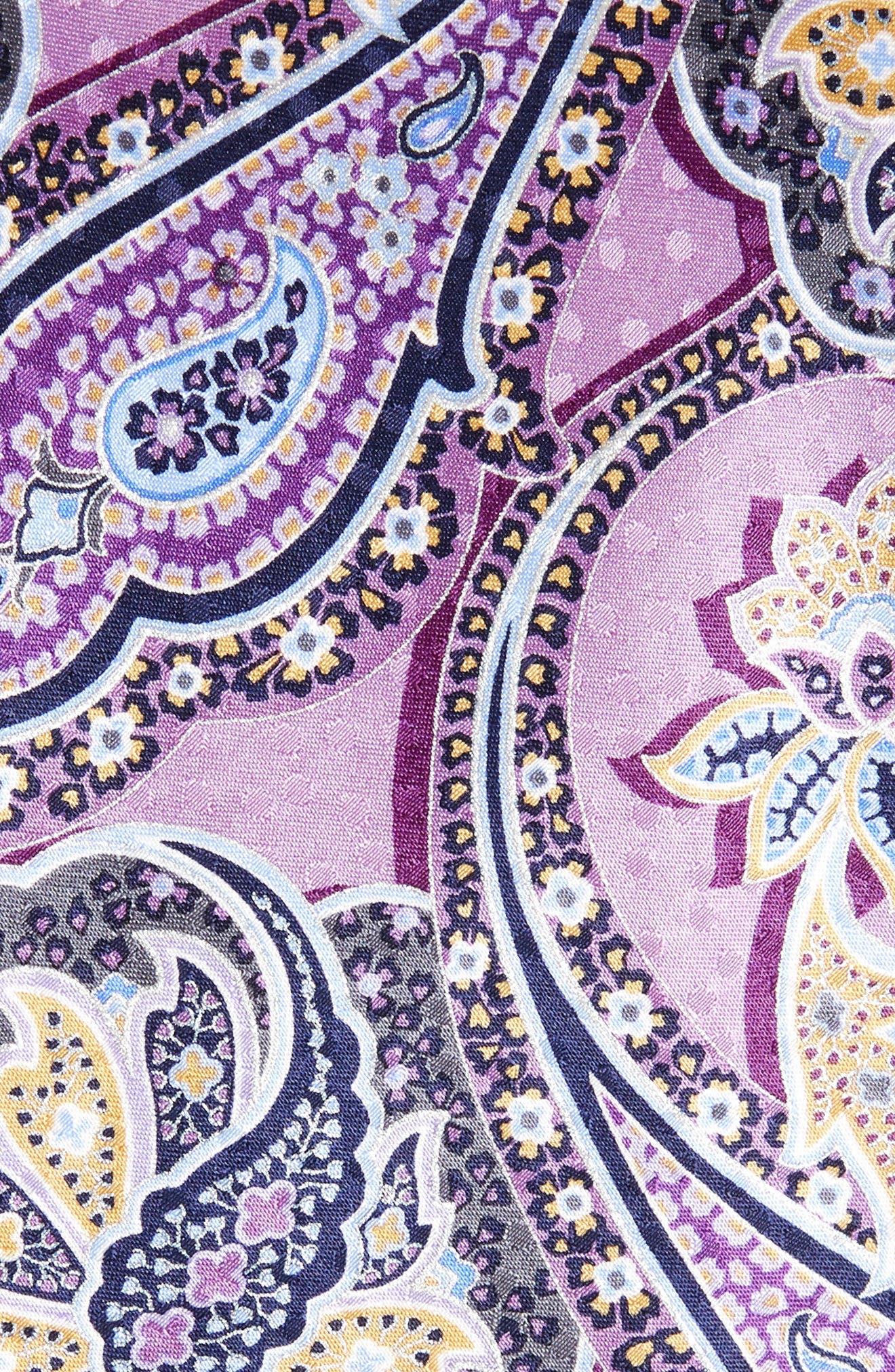 Paisley Silk Tie,                             Alternate thumbnail 2, color,                             Lilac