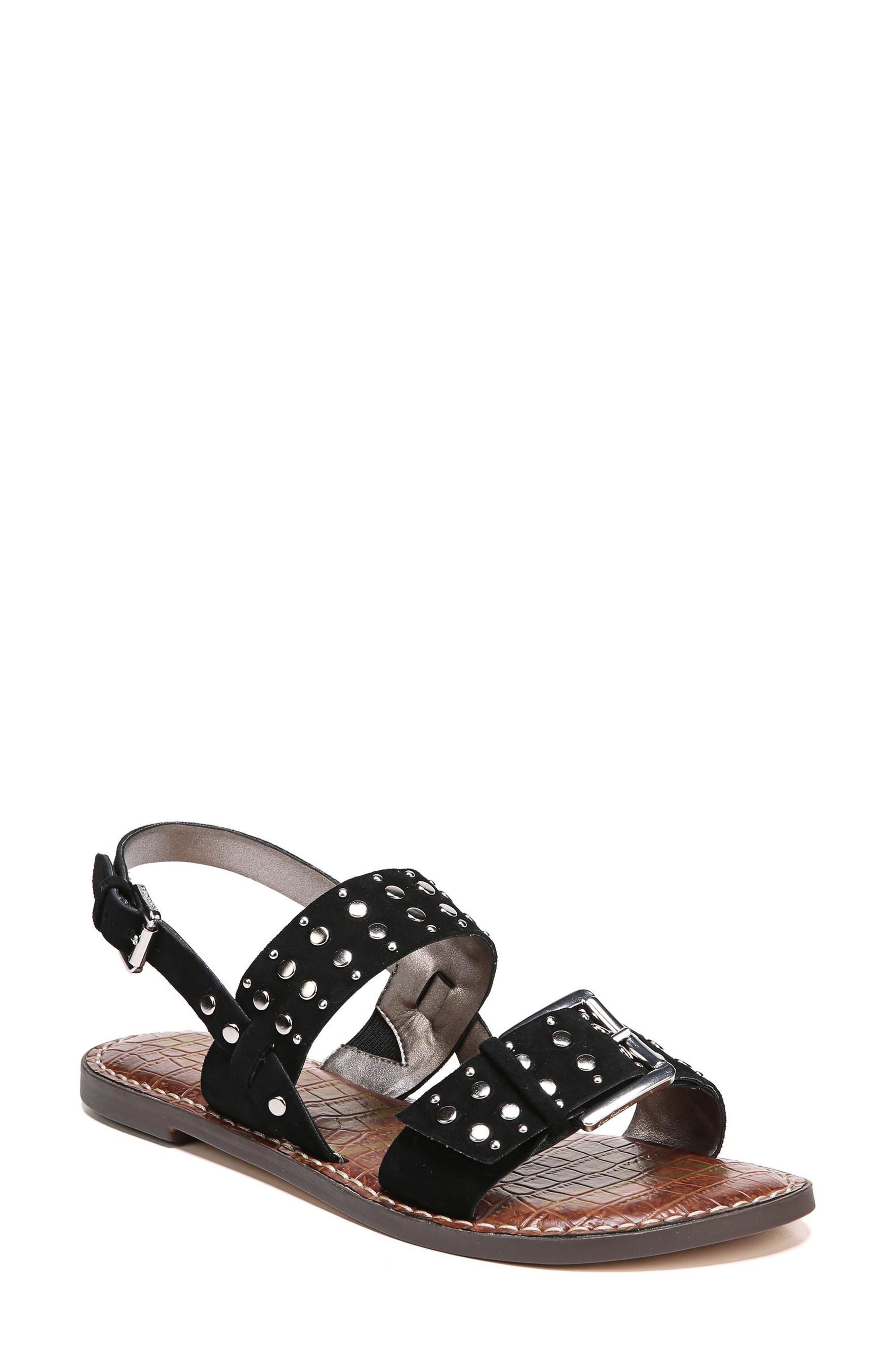 Glade Sandal,                         Main,                         color, Black Suede