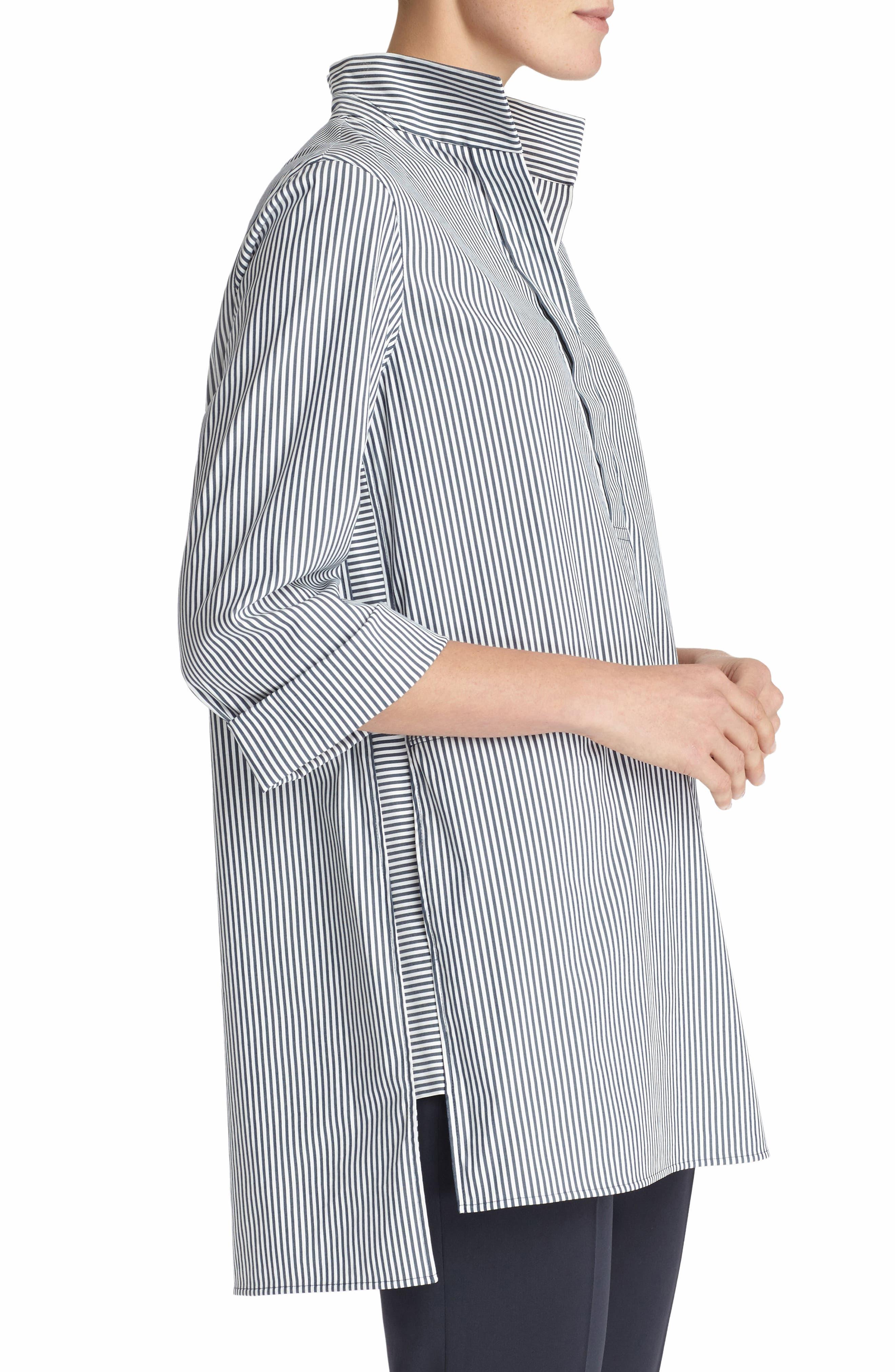 Desirae Freeport Stripe Shirting Blouse,                             Alternate thumbnail 3, color,                             Admiral Blue Multi