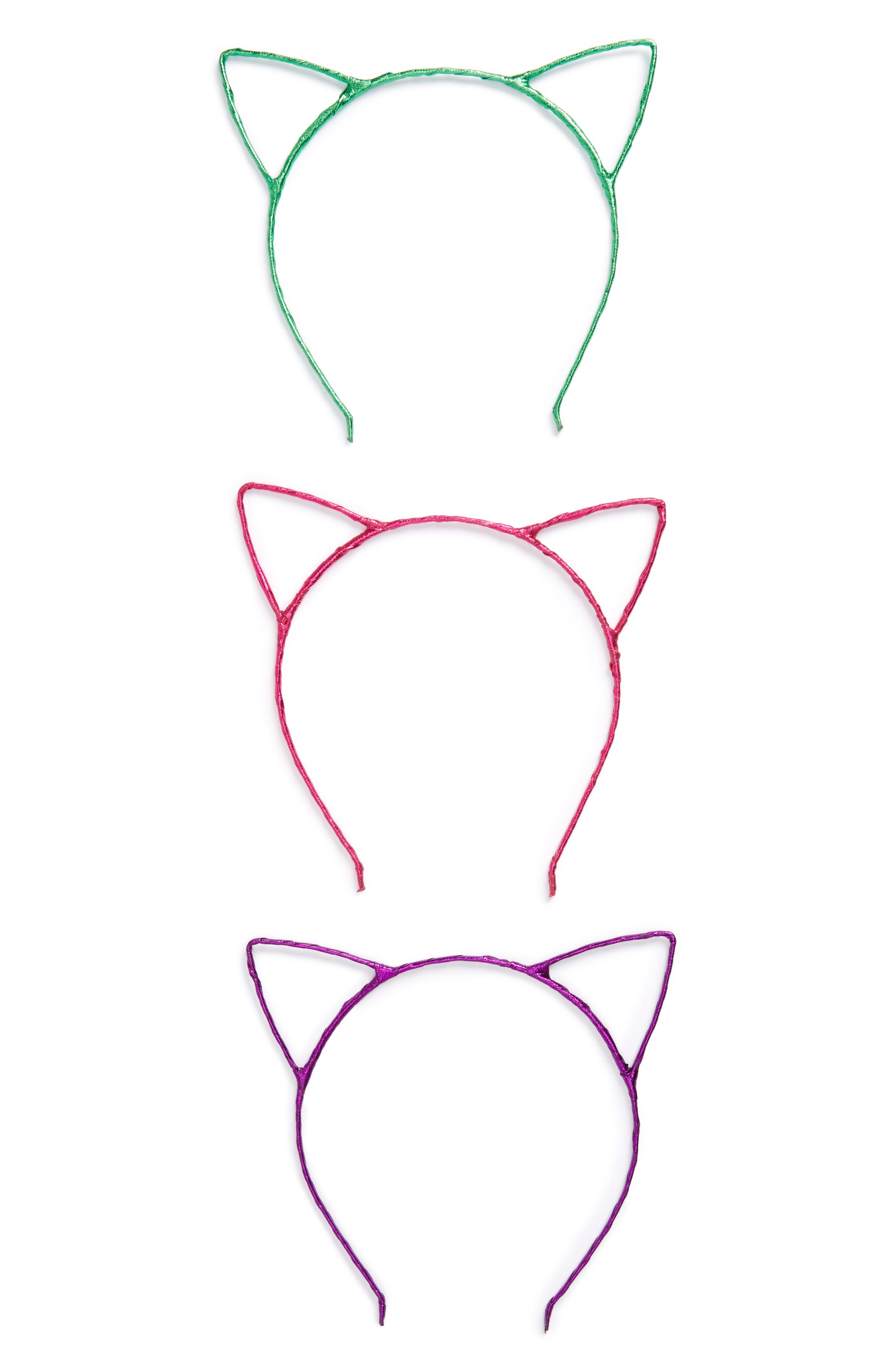 Cara Set of 3 Cat Ear Headbands (Girls)