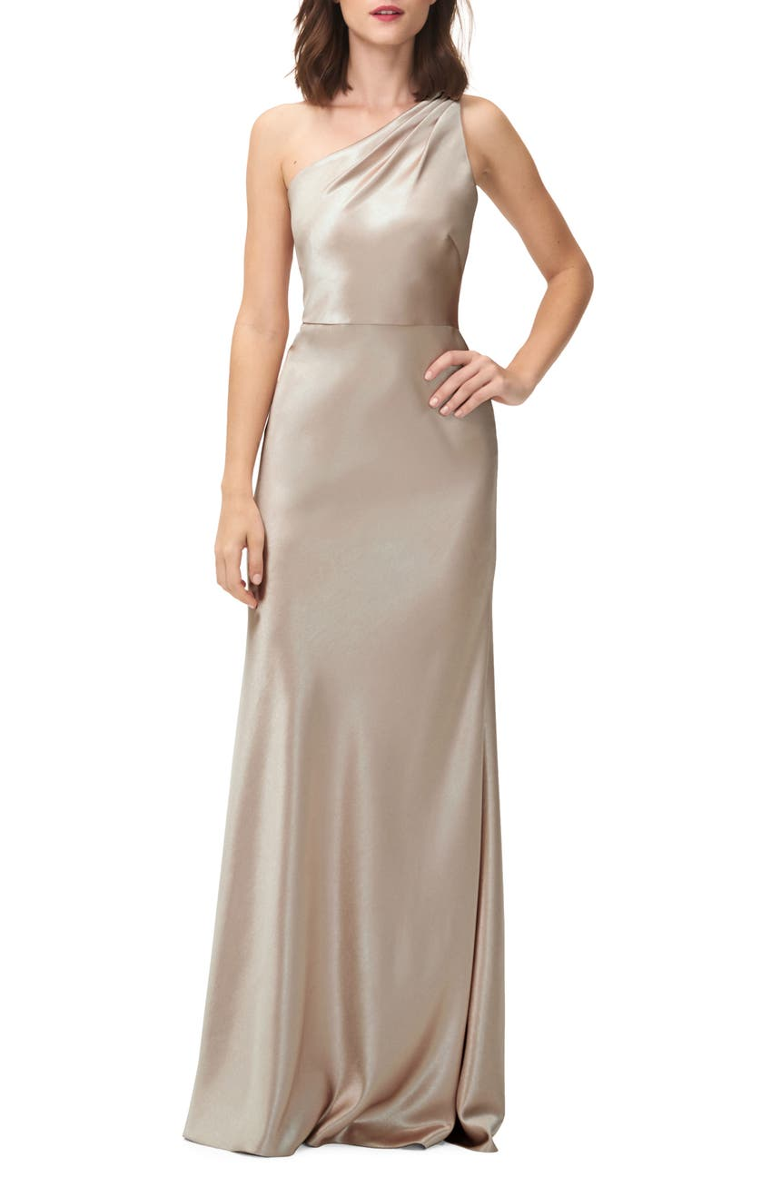 Jenny yoo bridesmaids wedding dresses nordstrom jenny yoo lena one shoulder crepe back satin gown ombrellifo Image collections