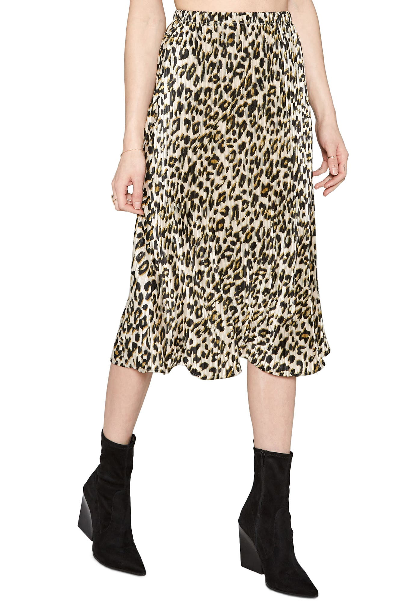 Main Image - Amuse Society Animal Instinct Midi Skirt