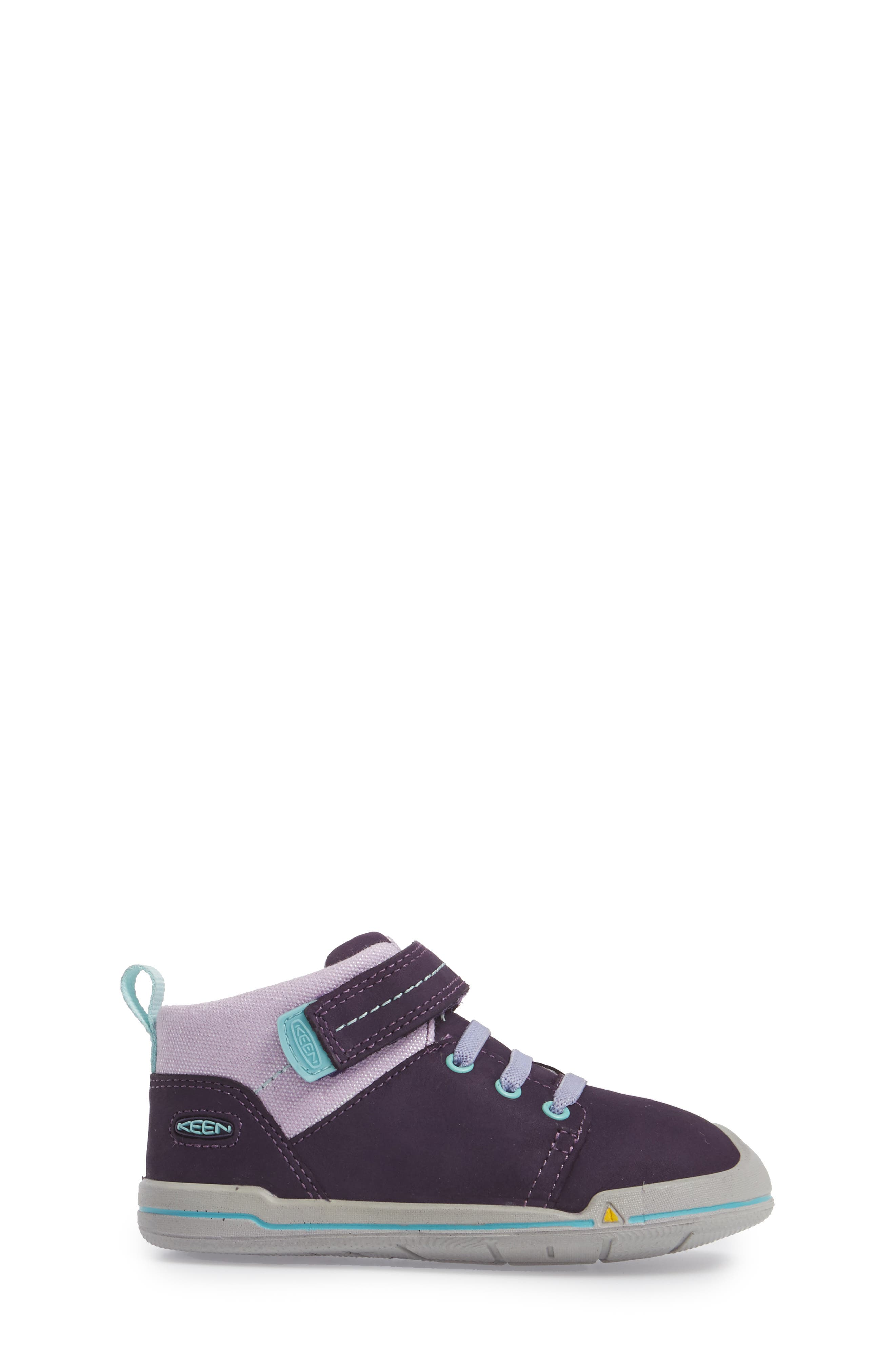 Sprout Mid Sneaker,                             Alternate thumbnail 3, color,                             Purple / Sweet Lavender