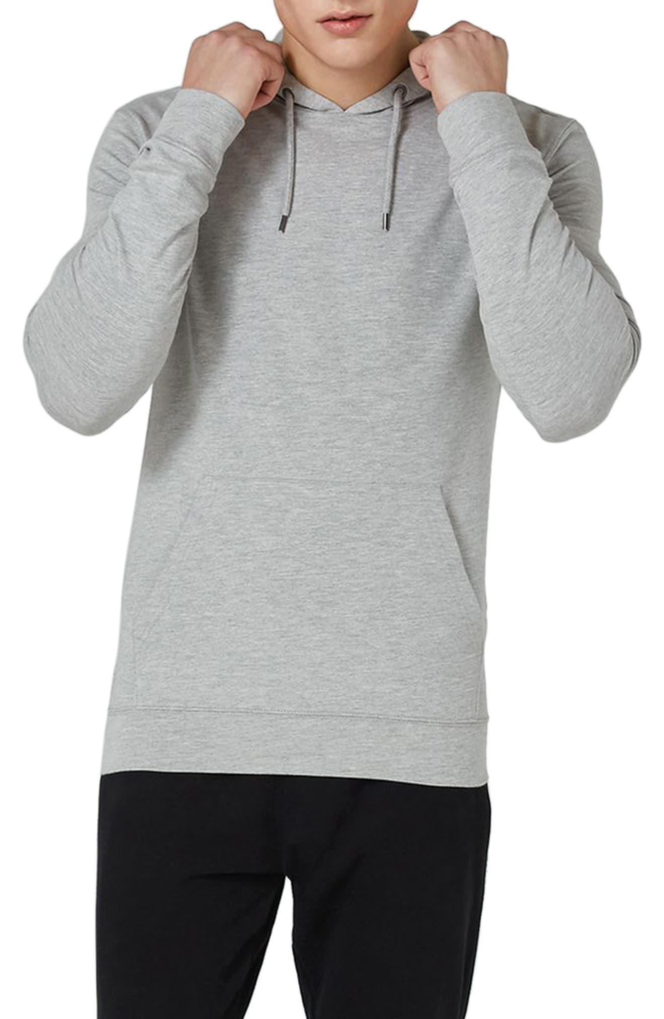 Ultra Muscle Fit Hoodie,                             Main thumbnail 1, color,                             Light Grey