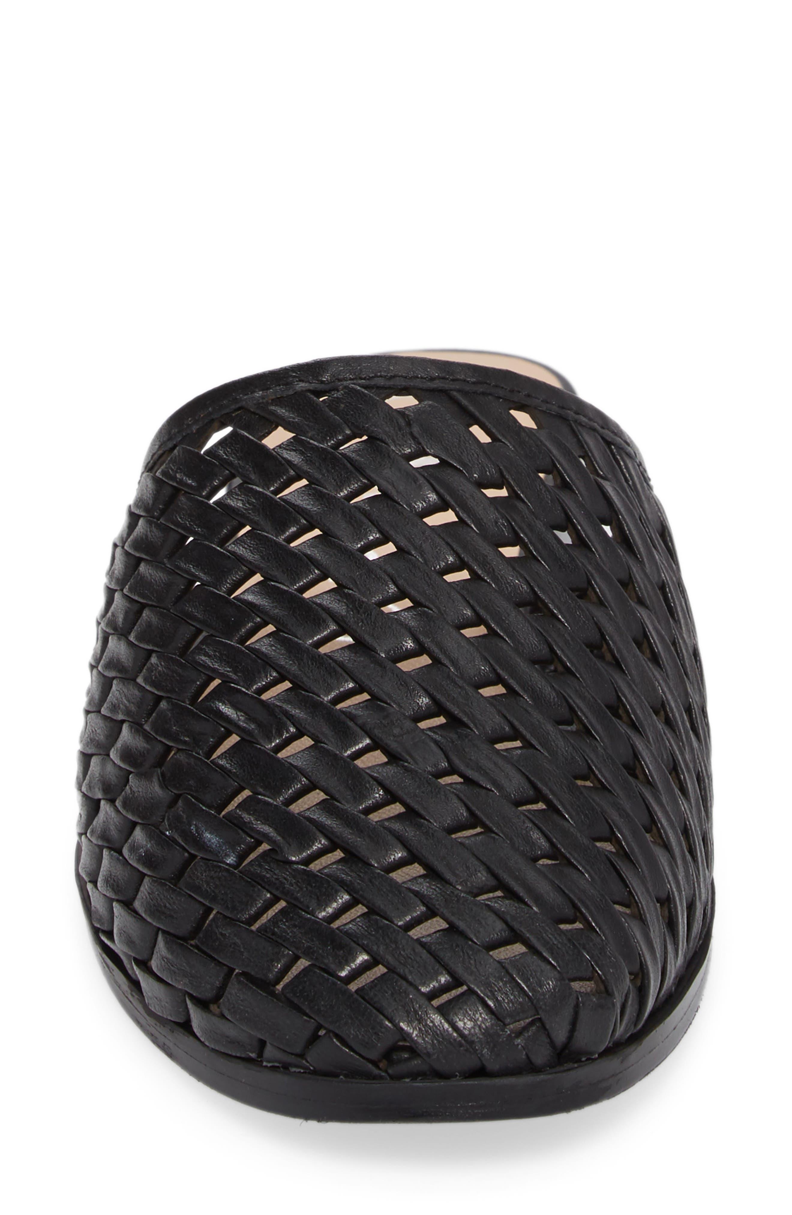Fenix Mule,                             Alternate thumbnail 4, color,                             Black Leather
