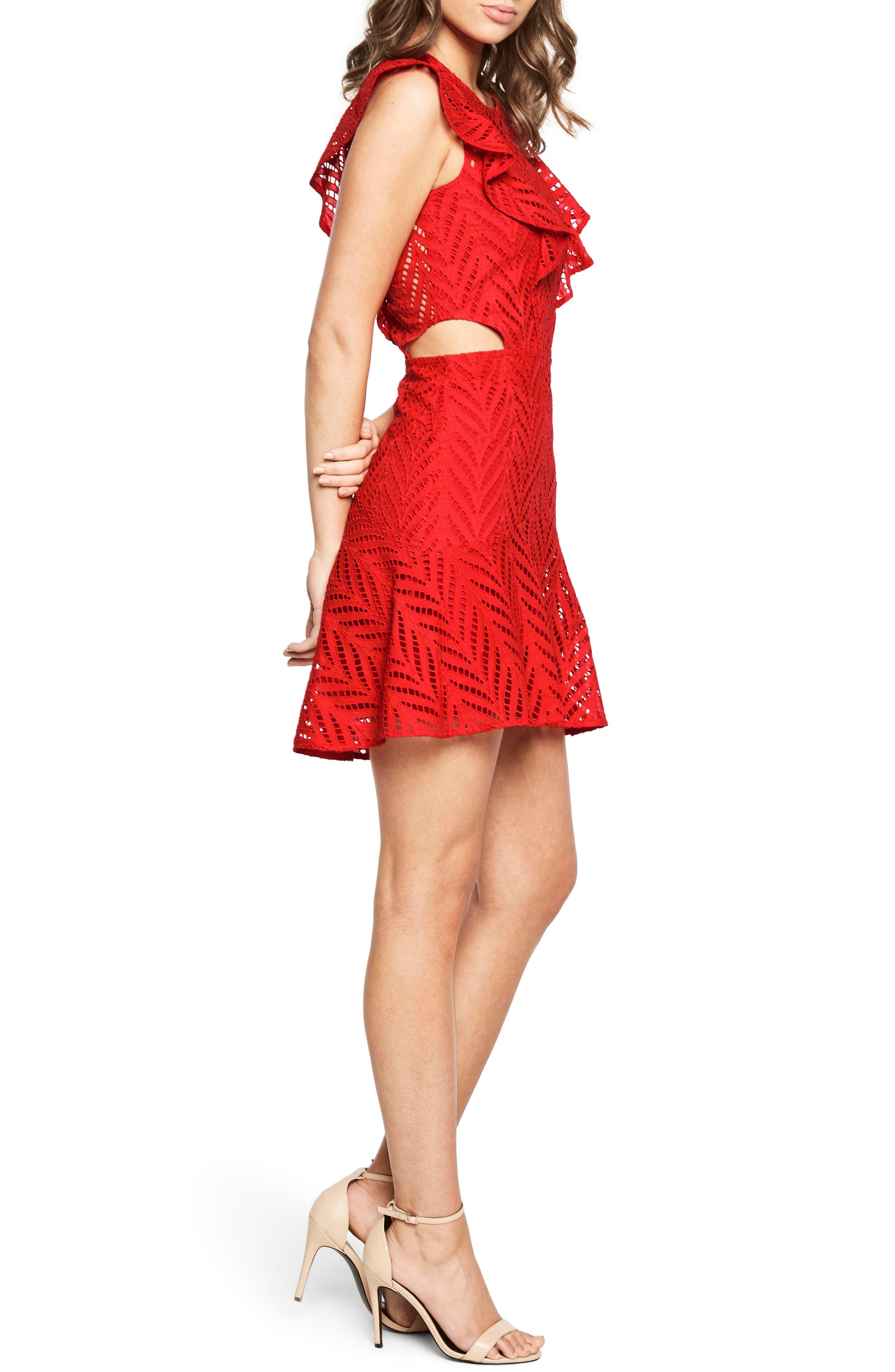 Alternate Image 3  - Bardot Kira Crochet Ruffle Dress