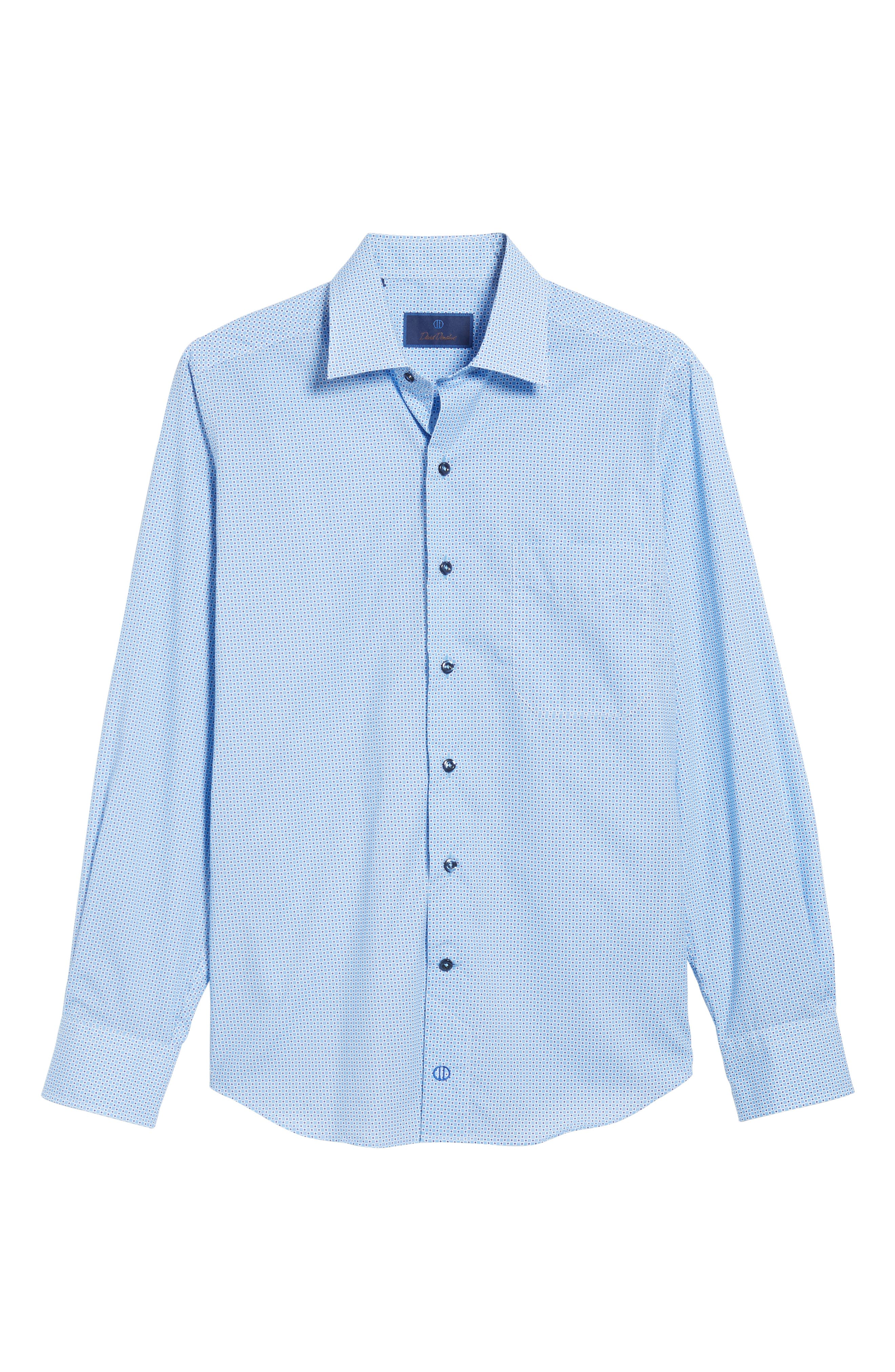 Print Sport Shirt,                             Alternate thumbnail 6, color,                             Blue