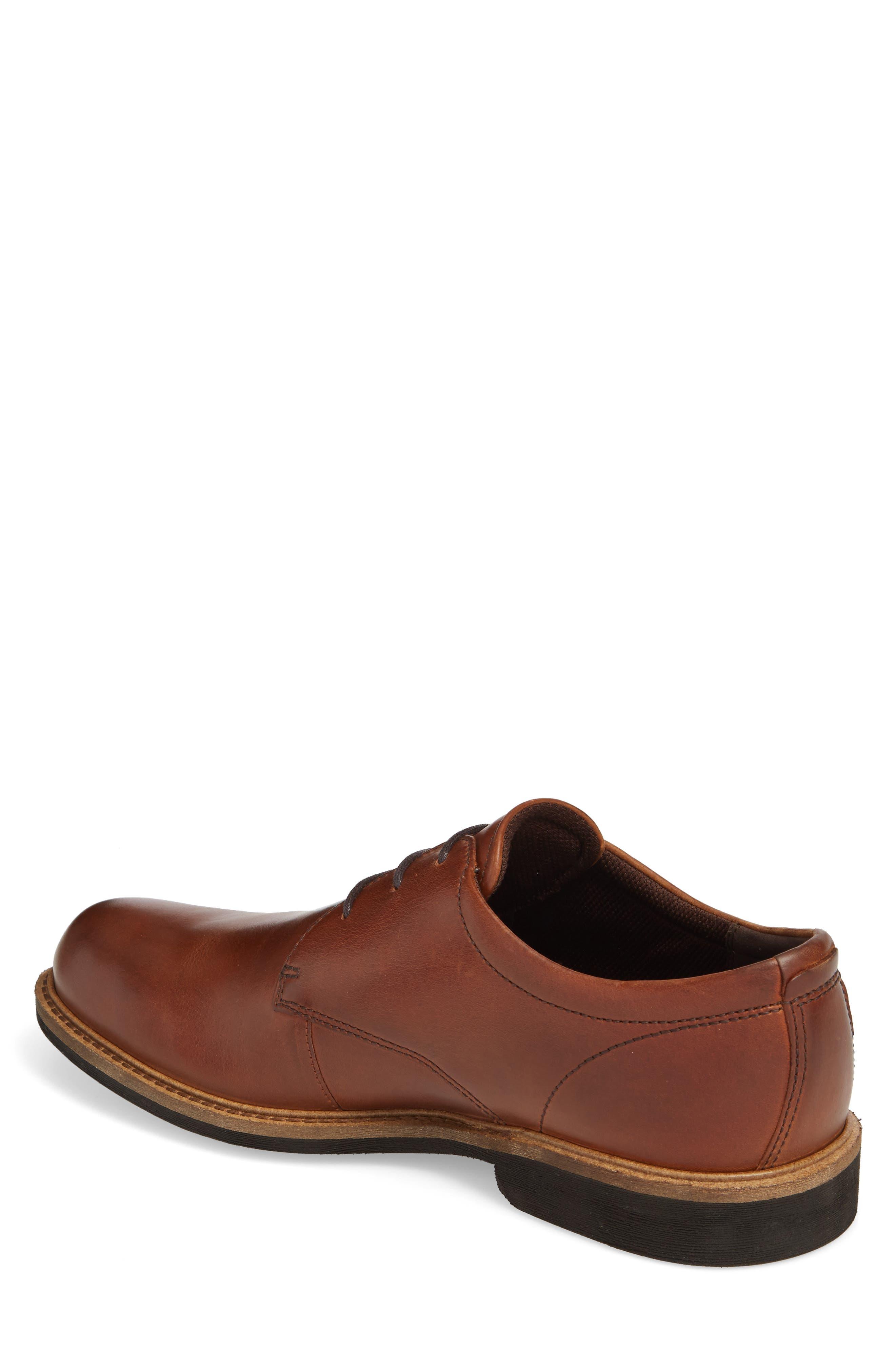 Findlay Plain Toe Derby,                             Alternate thumbnail 2, color,                             Cognac Leather
