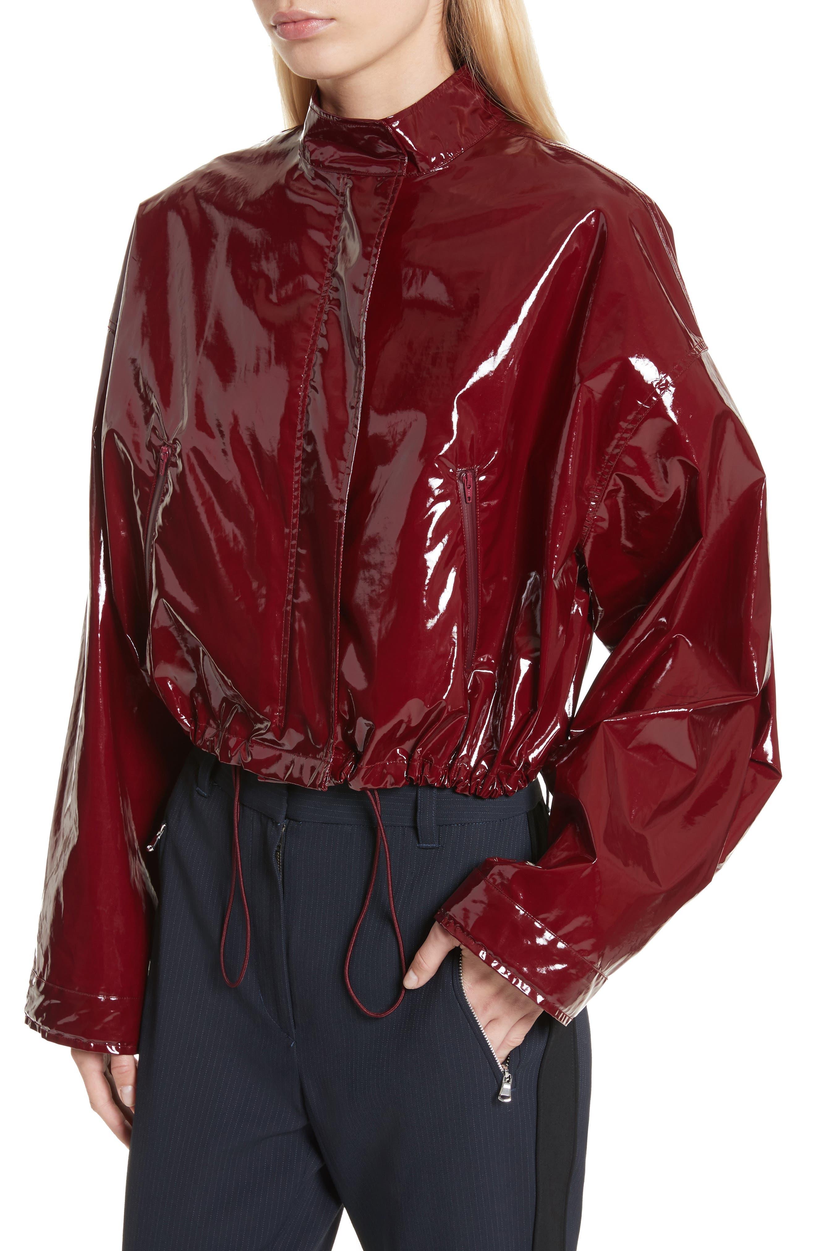 Coated Jacket,                             Alternate thumbnail 4, color,                             Burgundy