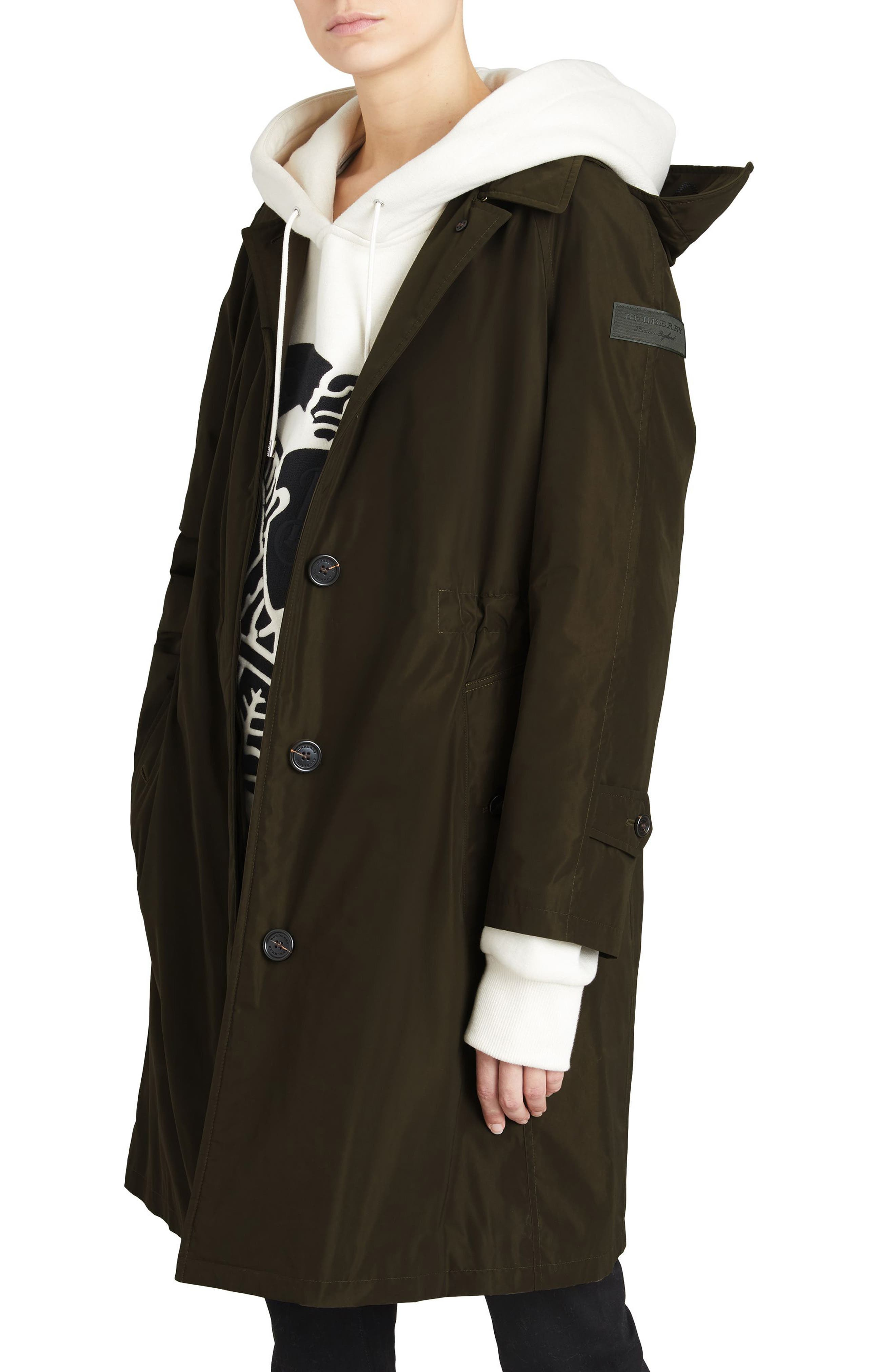 Alternate Image 4  - Burberry Tringford Waterproof Hooded Coat