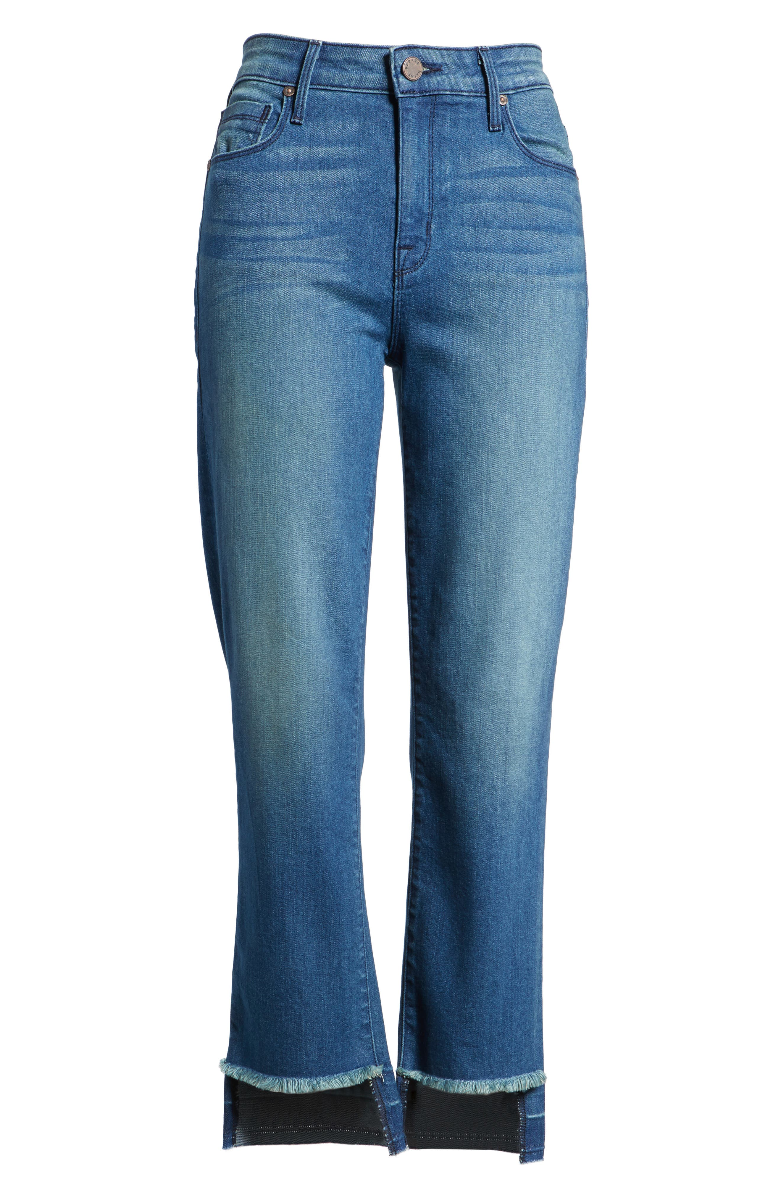 Alternate Image 6  - PARKER SMITH Pin-Up Straight Leg Crop Jeans (Island)