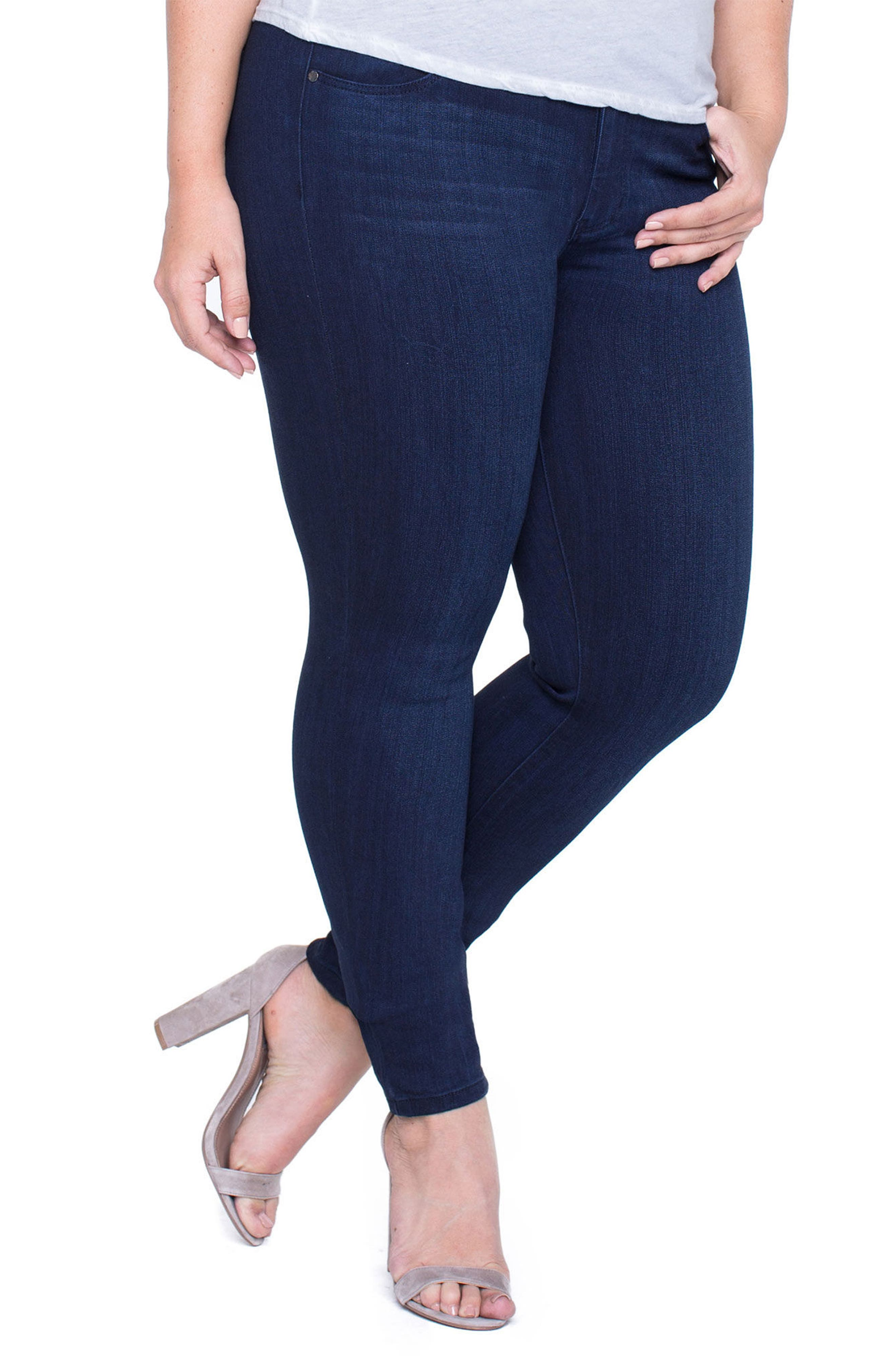 Abby Stretch Skinny Jeans,                             Alternate thumbnail 4, color,                             Stone Wash