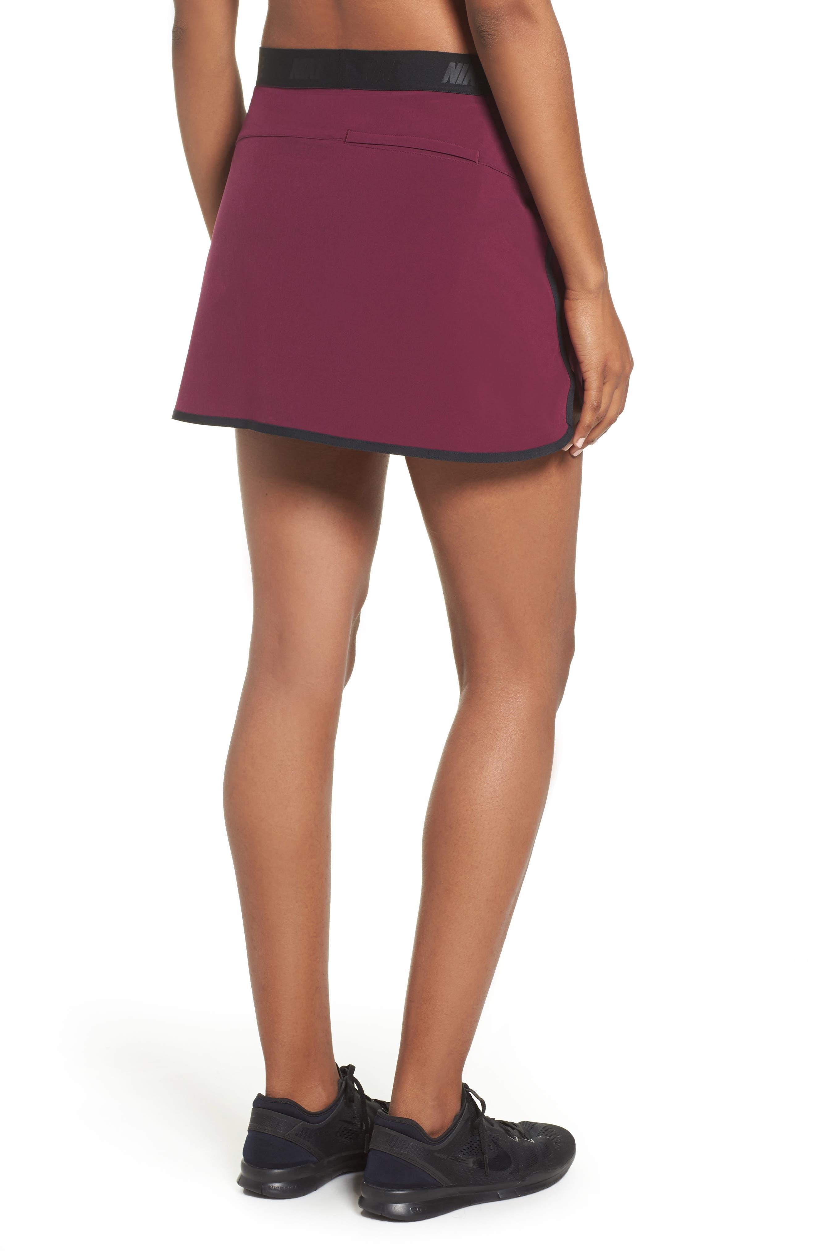 Flex Tennis Skirt,                             Alternate thumbnail 2, color,                             Burgundy