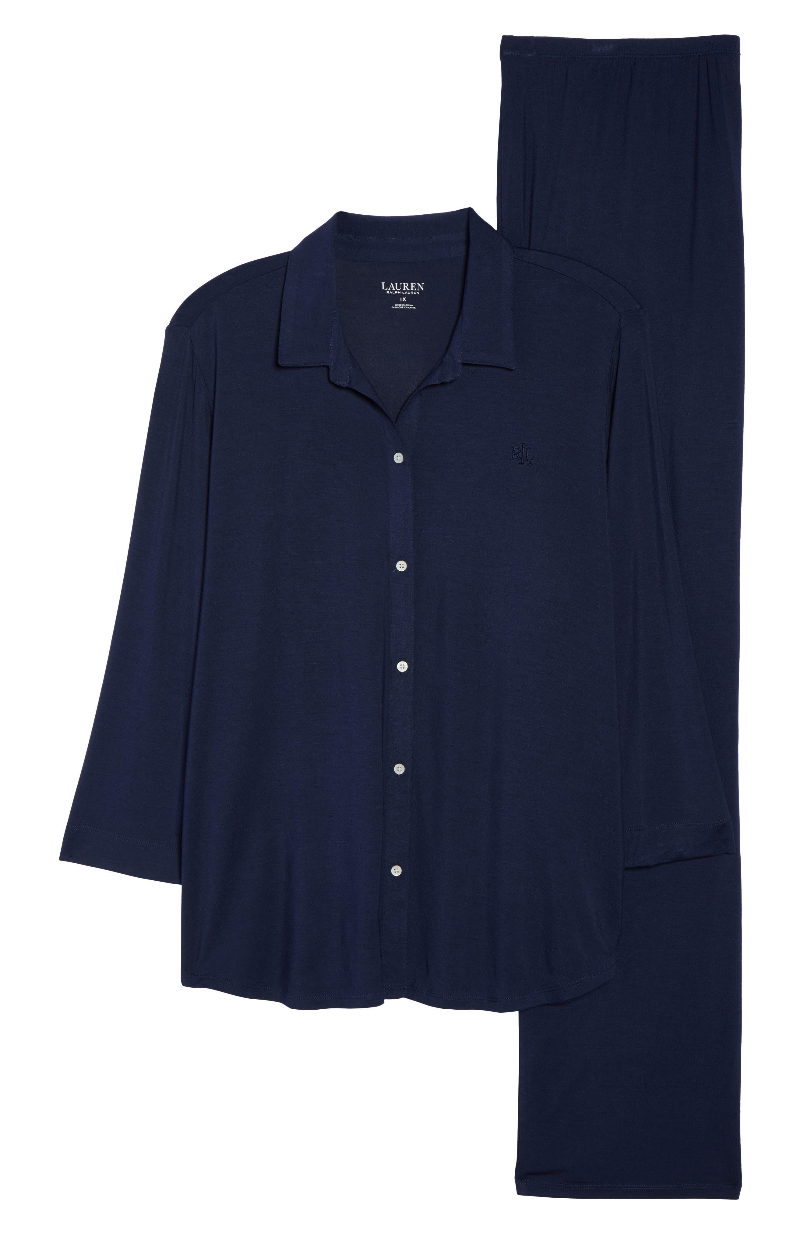 Pajamas,                             Alternate thumbnail 4, color,                             Spring Navy
