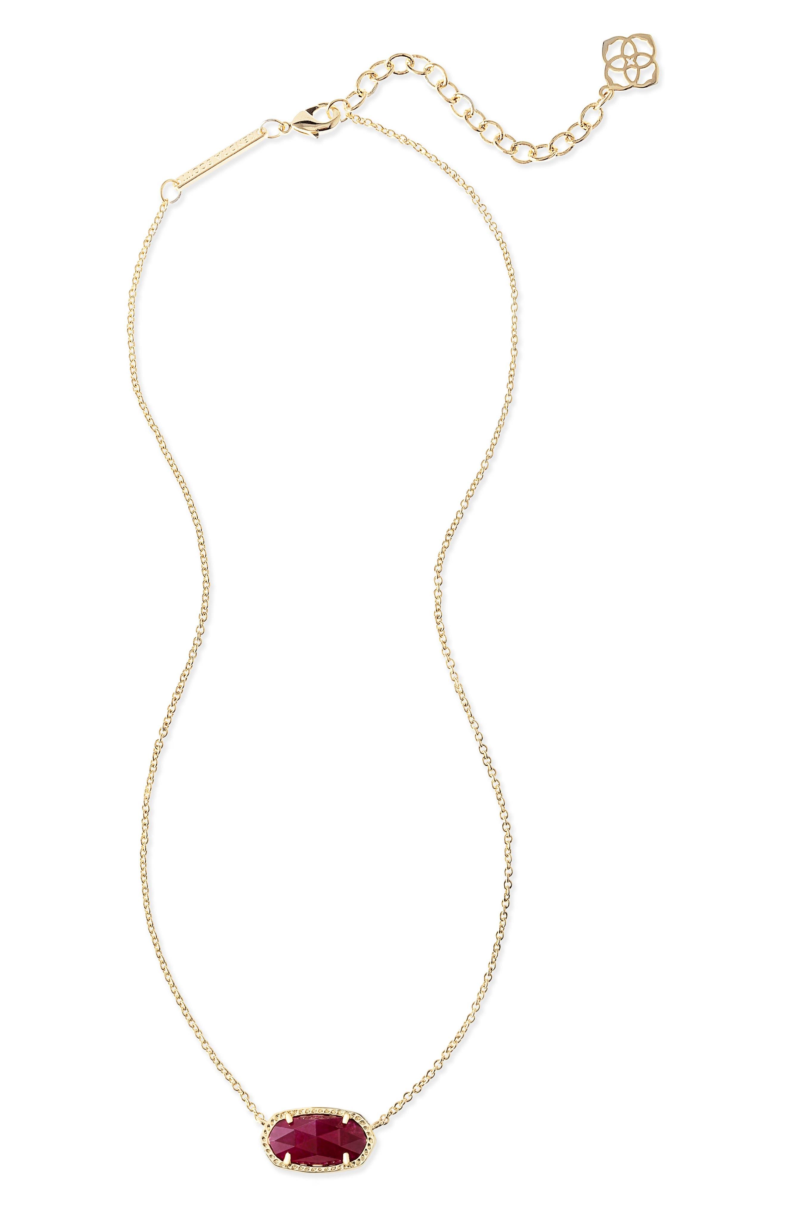 Elisa Pendant Necklace,                             Alternate thumbnail 2, color,                             Maroon Jade/ Gold