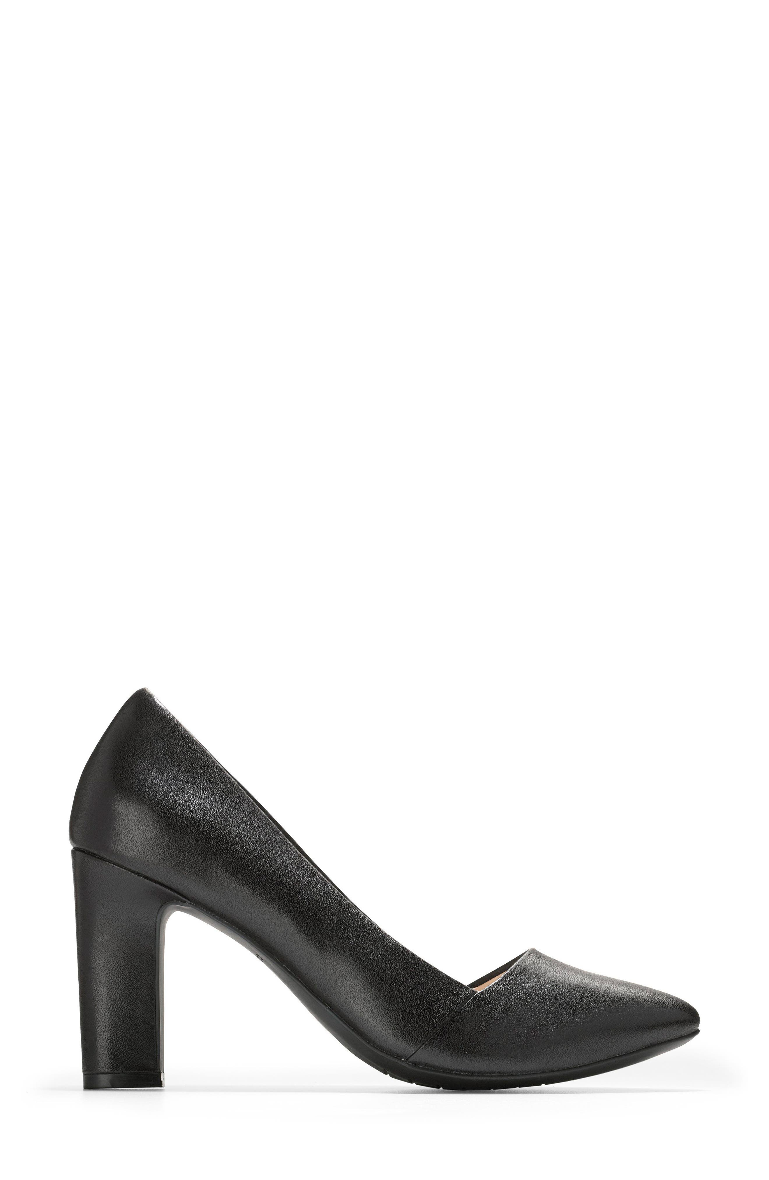 Kinslee Pump,                             Alternate thumbnail 3, color,                             Black Leather