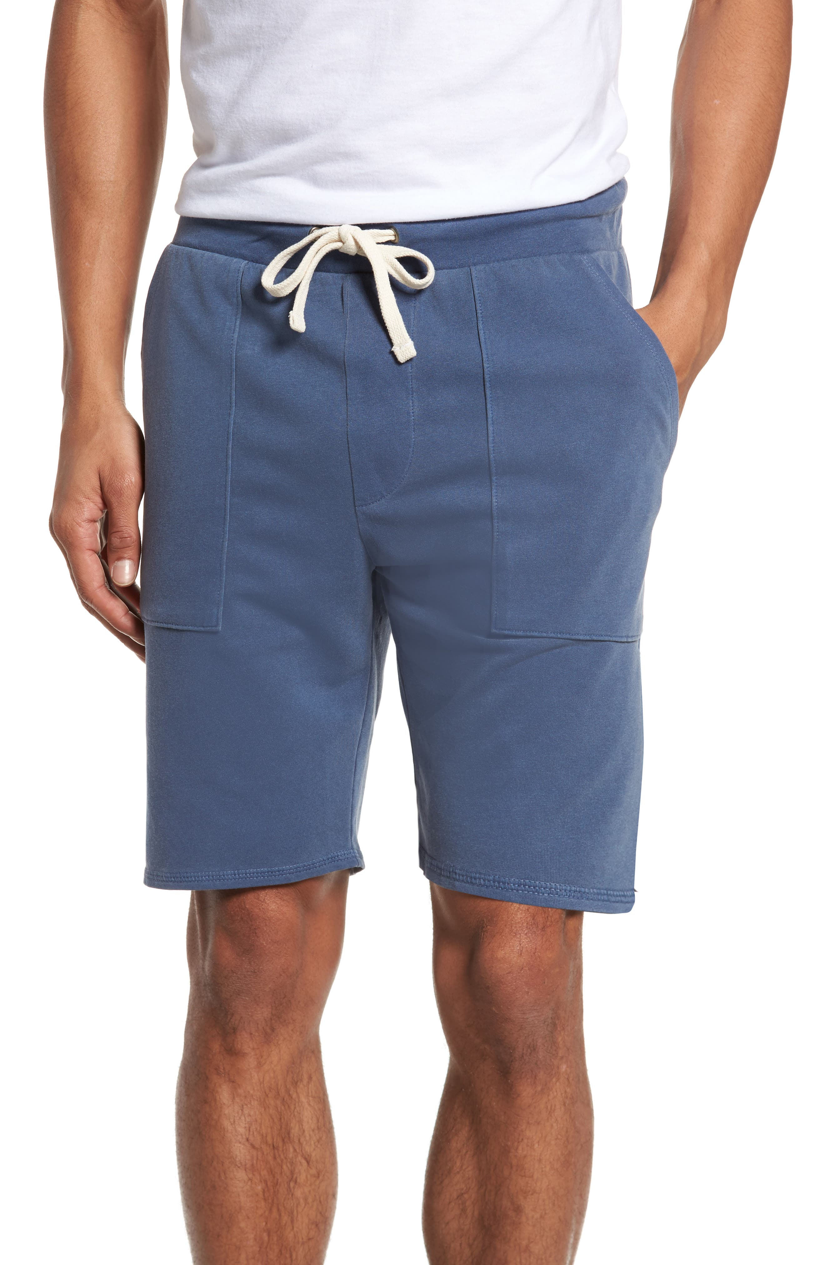 Terrycloth Scallop Shorts,                         Main,                         color, Faded Navy