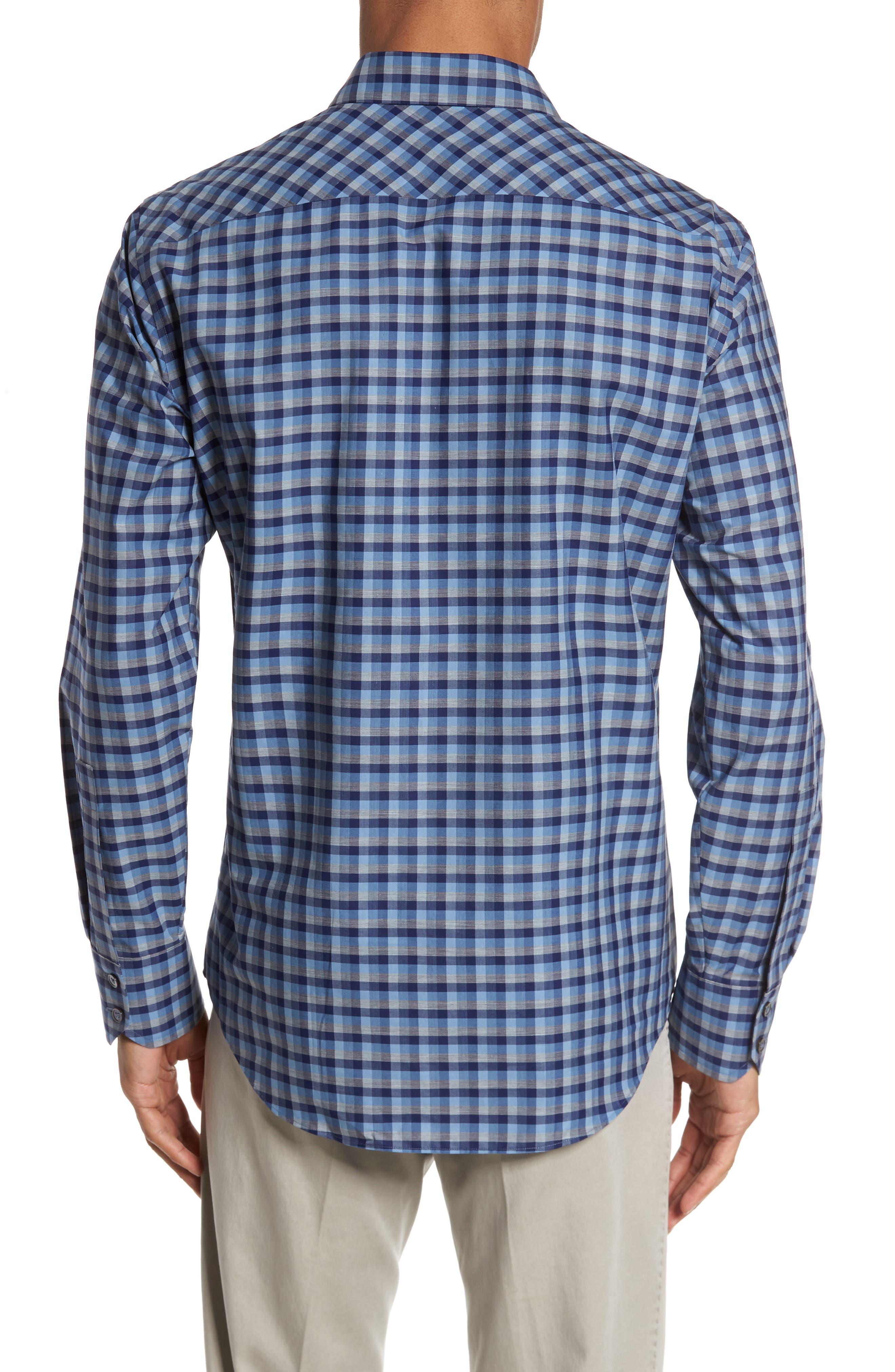 Dane Check Sport Shirt,                             Alternate thumbnail 2, color,                             Light Blue