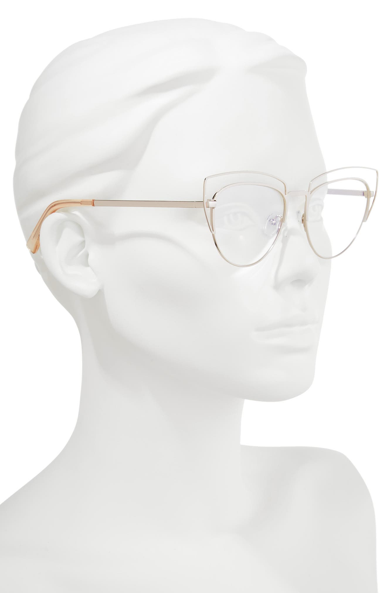 One Hundred Beers Of Solitude 52mm Reading Glasses,                             Alternate thumbnail 2, color,                             Rose Gold