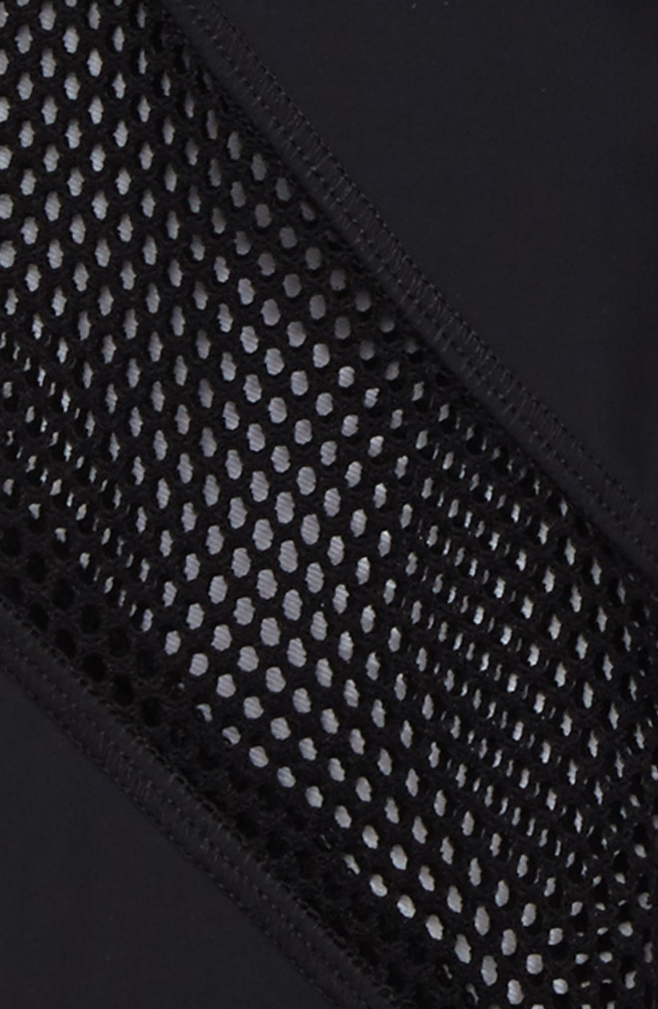 Mesh Panel Leggings,                             Alternate thumbnail 2, color,                             Black/ Black