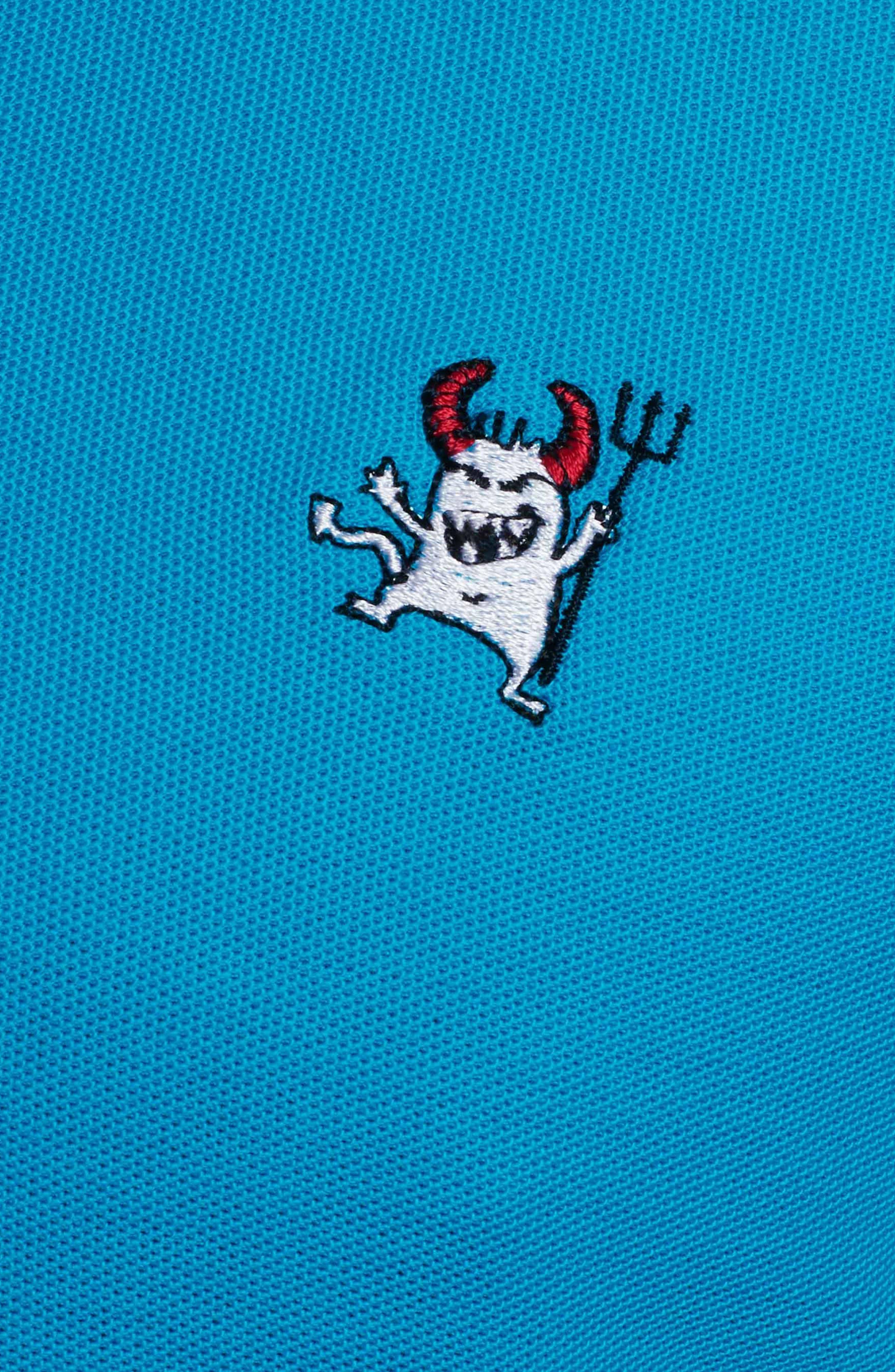 Devil Piqué Polo,                             Alternate thumbnail 5, color,                             Teal