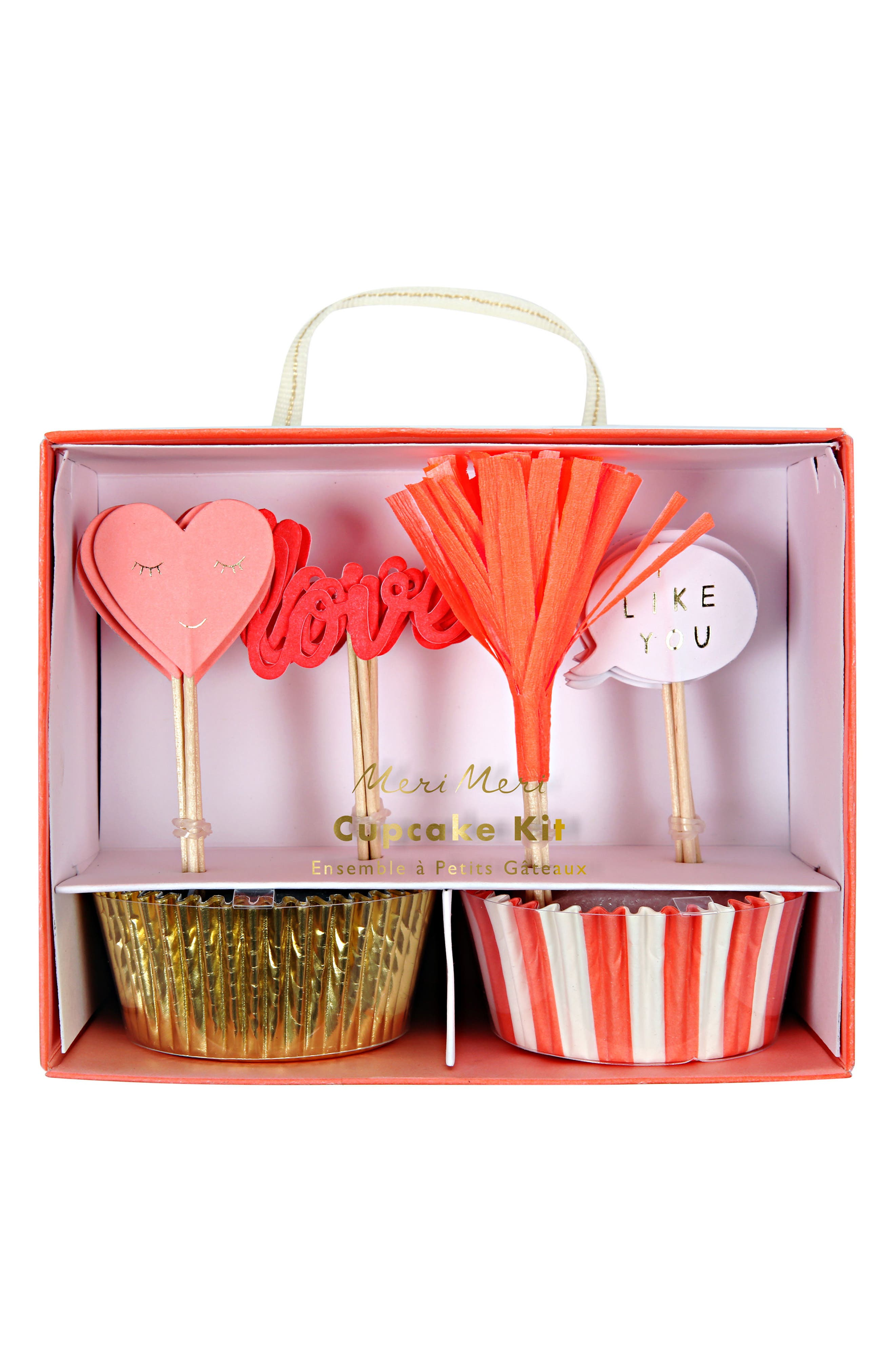 Love Cupcake Kit,                             Main thumbnail 1, color,                             Multi