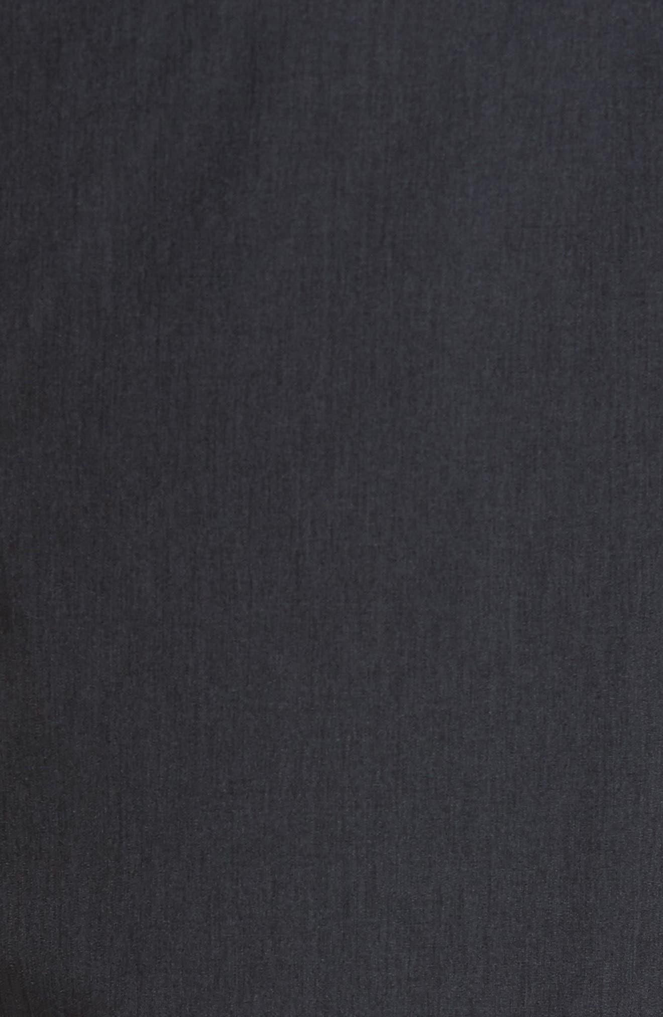 Banks Performance Hybrid Shorts,                             Alternate thumbnail 5, color,                             Black Linen Texture