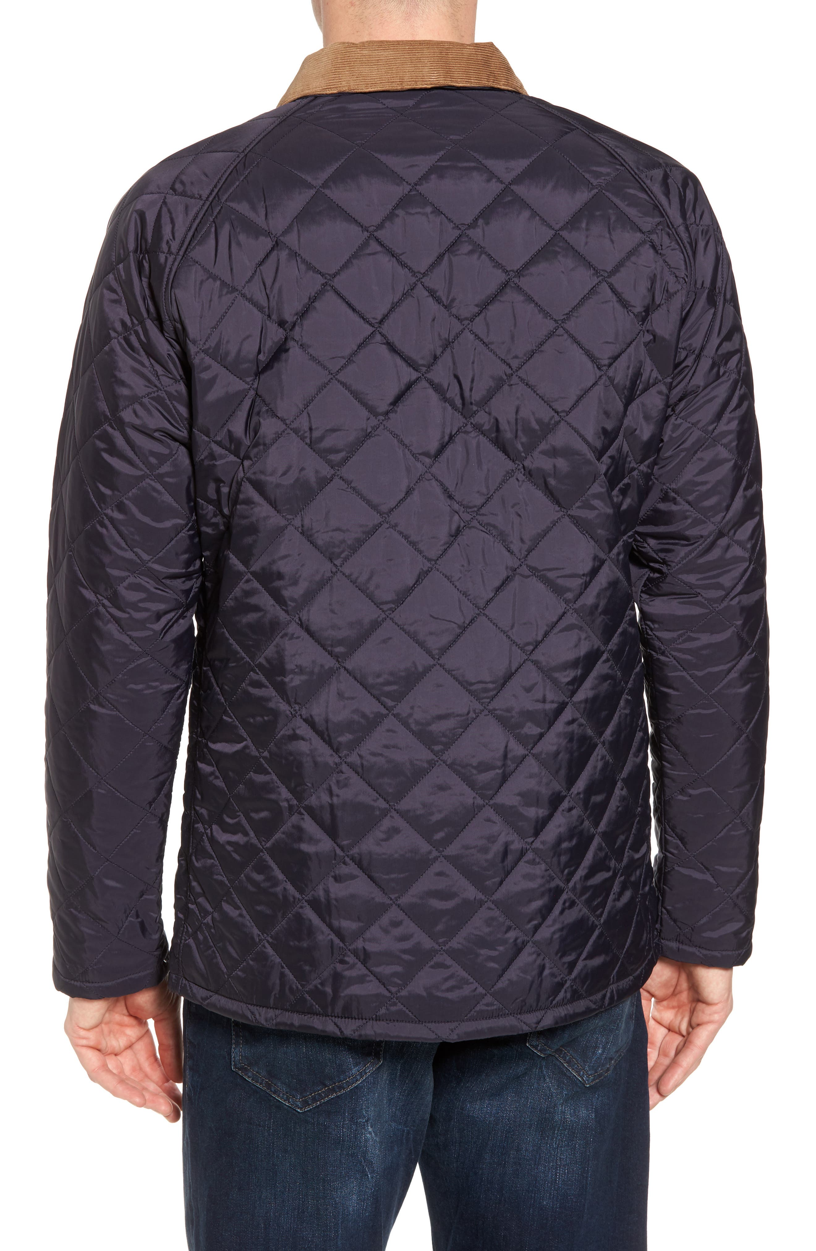'Canterdale' Slim Fit Water-Resistant Diamond Quilted Jacket,                             Alternate thumbnail 2, color,                             Navy