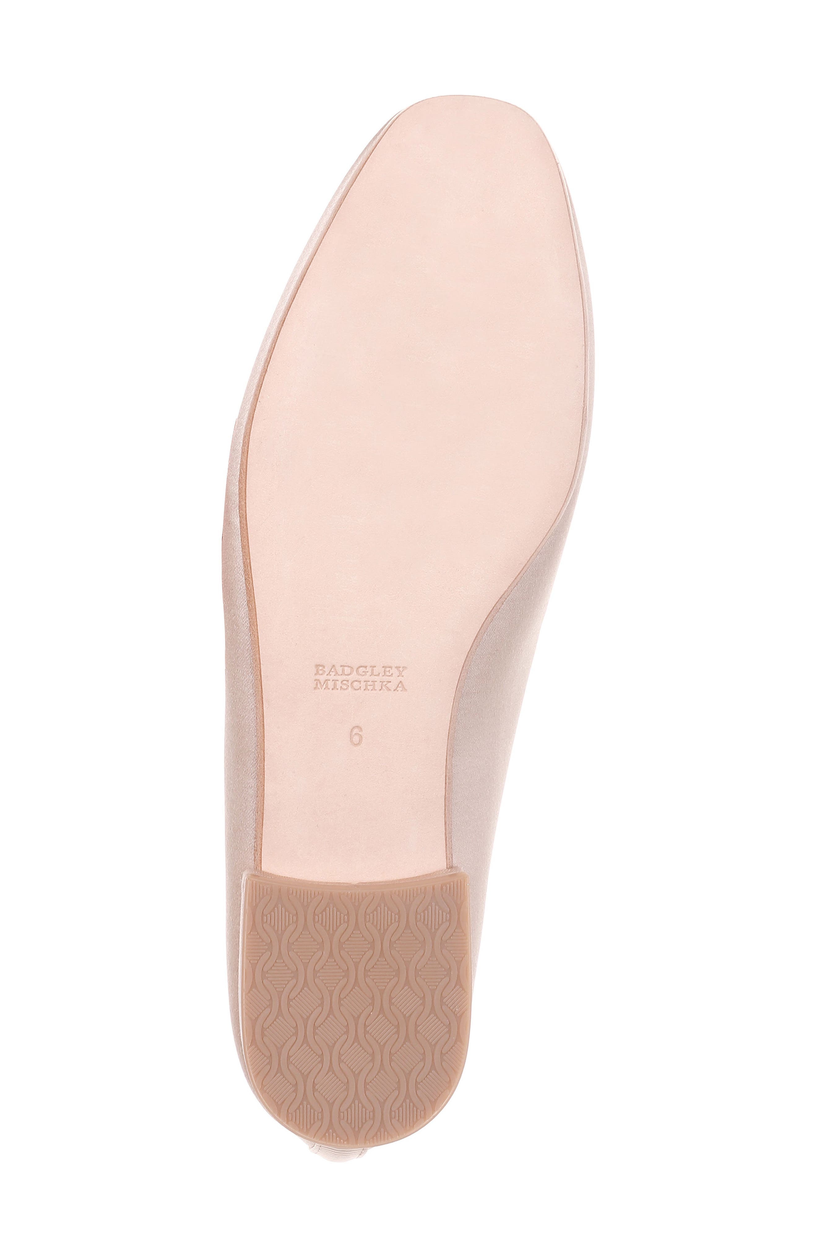 Salma Crystal Embellished Loafer,                             Alternate thumbnail 3, color,                             Nude Satin