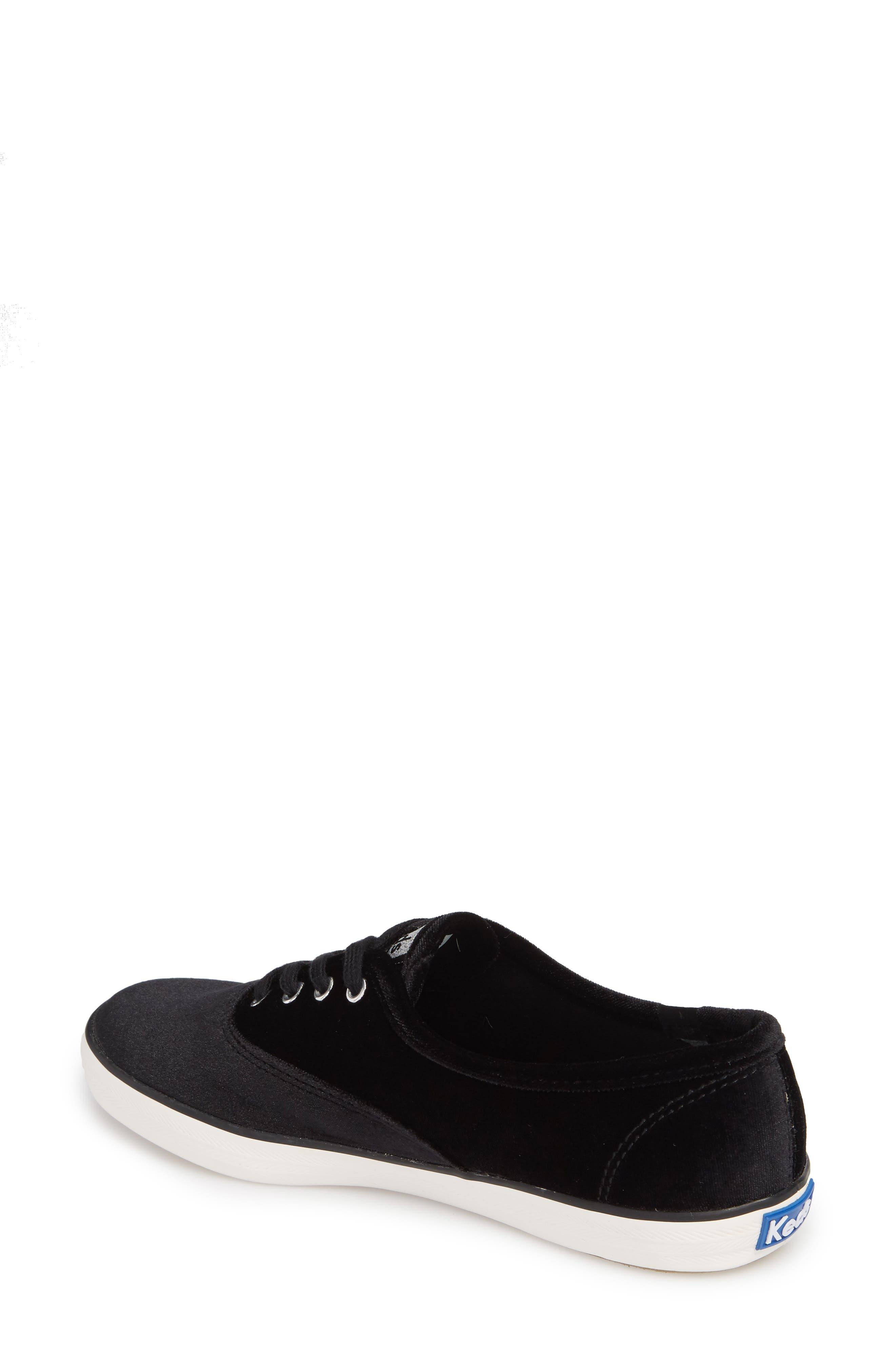 Champion Velvet Sneaker,                             Alternate thumbnail 2, color,                             Black