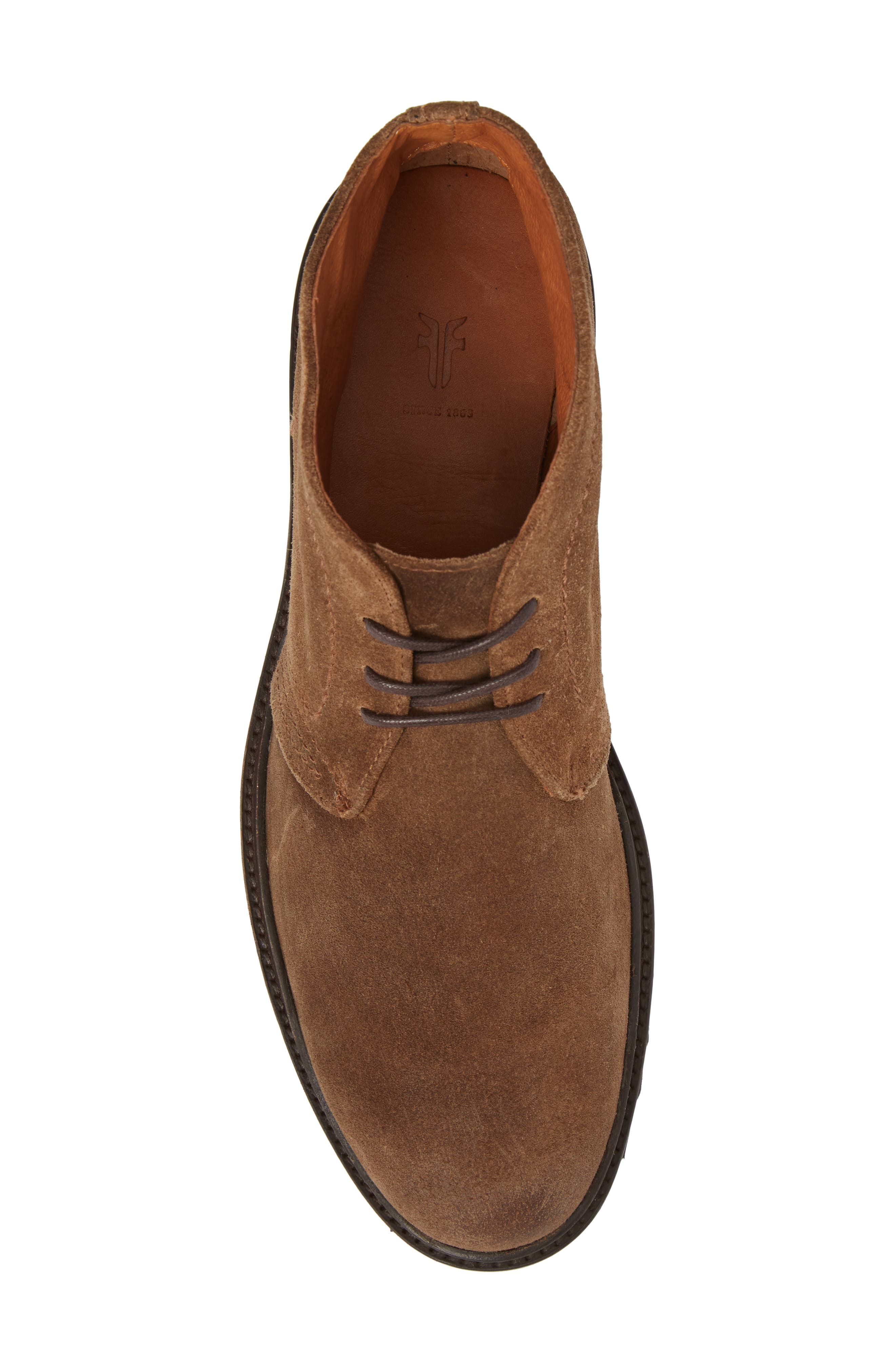 Edwin Waterproof Chukka Boot,                             Alternate thumbnail 5, color,                             Fawn Leather