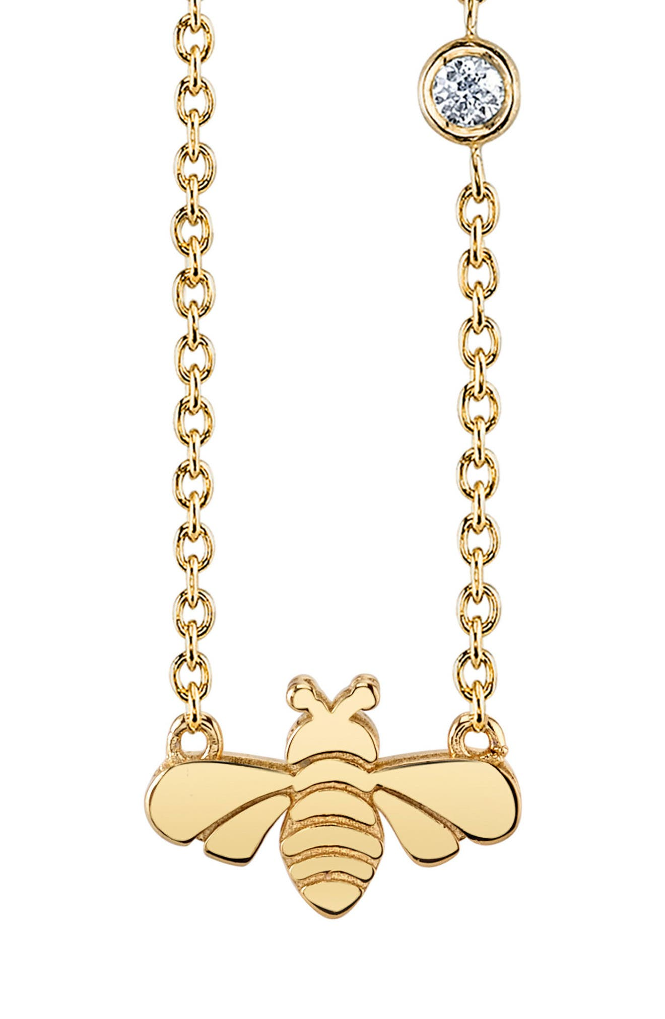SHY BY SE BEE PENDANT NECKLACE