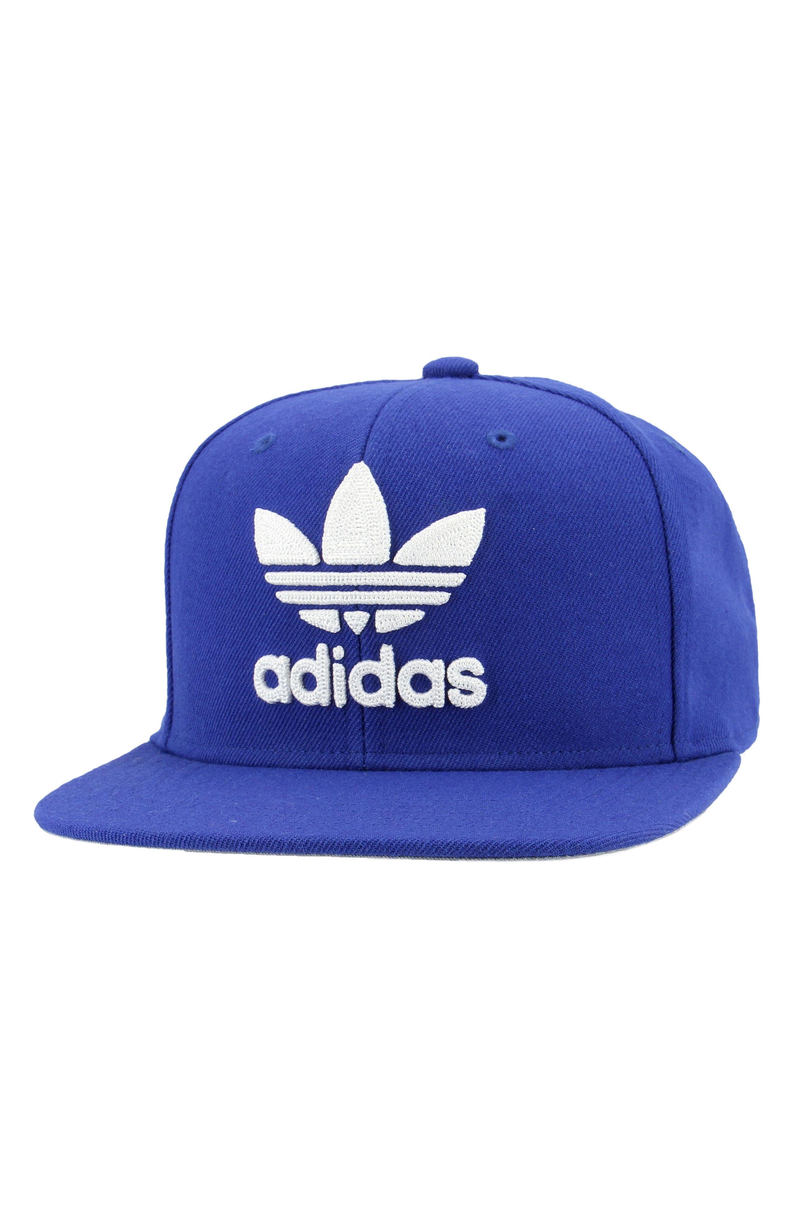 Trefoil Snapback Baseball Cap,                         Main,                         color, Med Blue