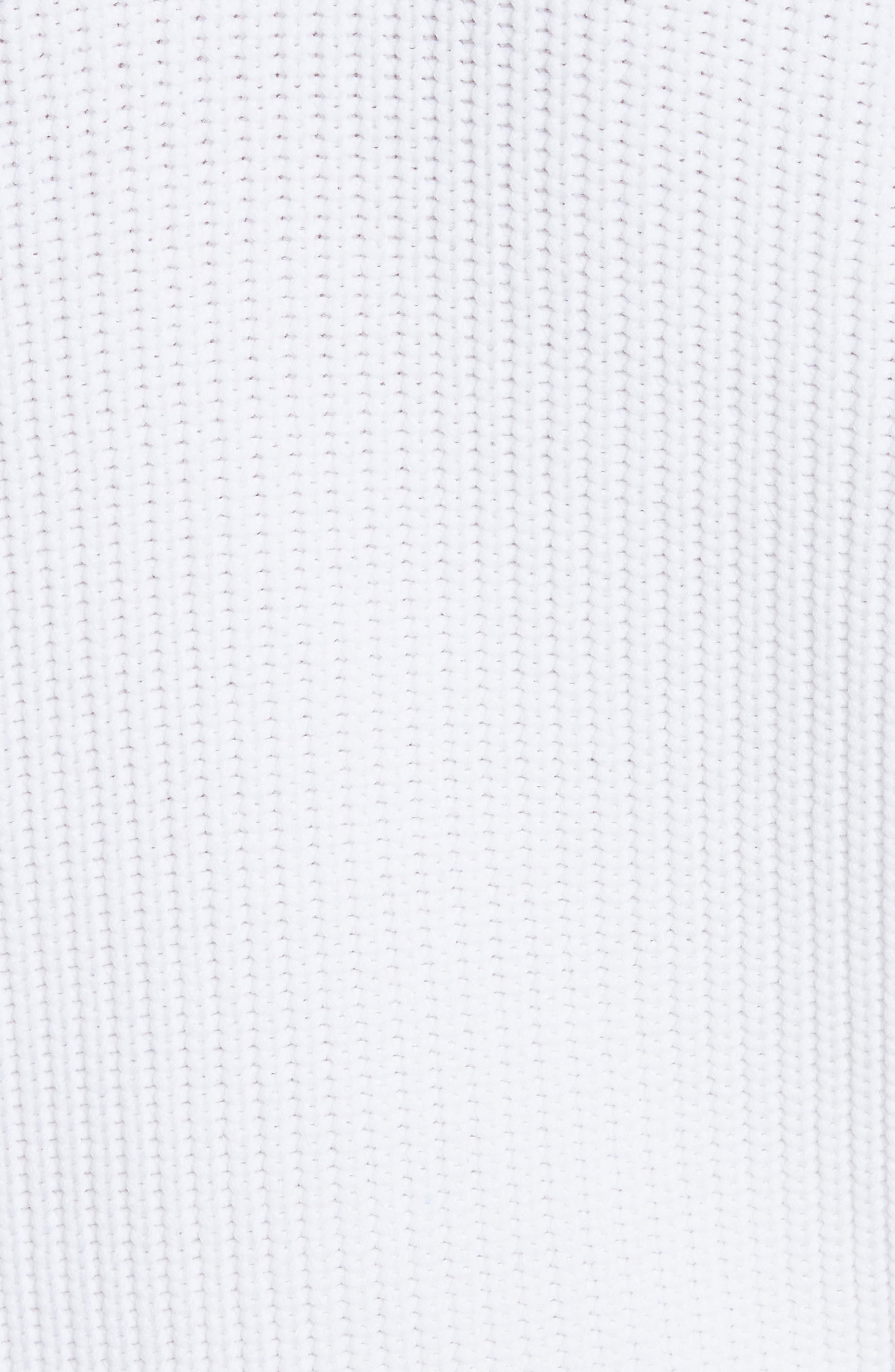 Bishop Sleeve Sweater,                             Alternate thumbnail 5, color,                             Optic White/ Coastal